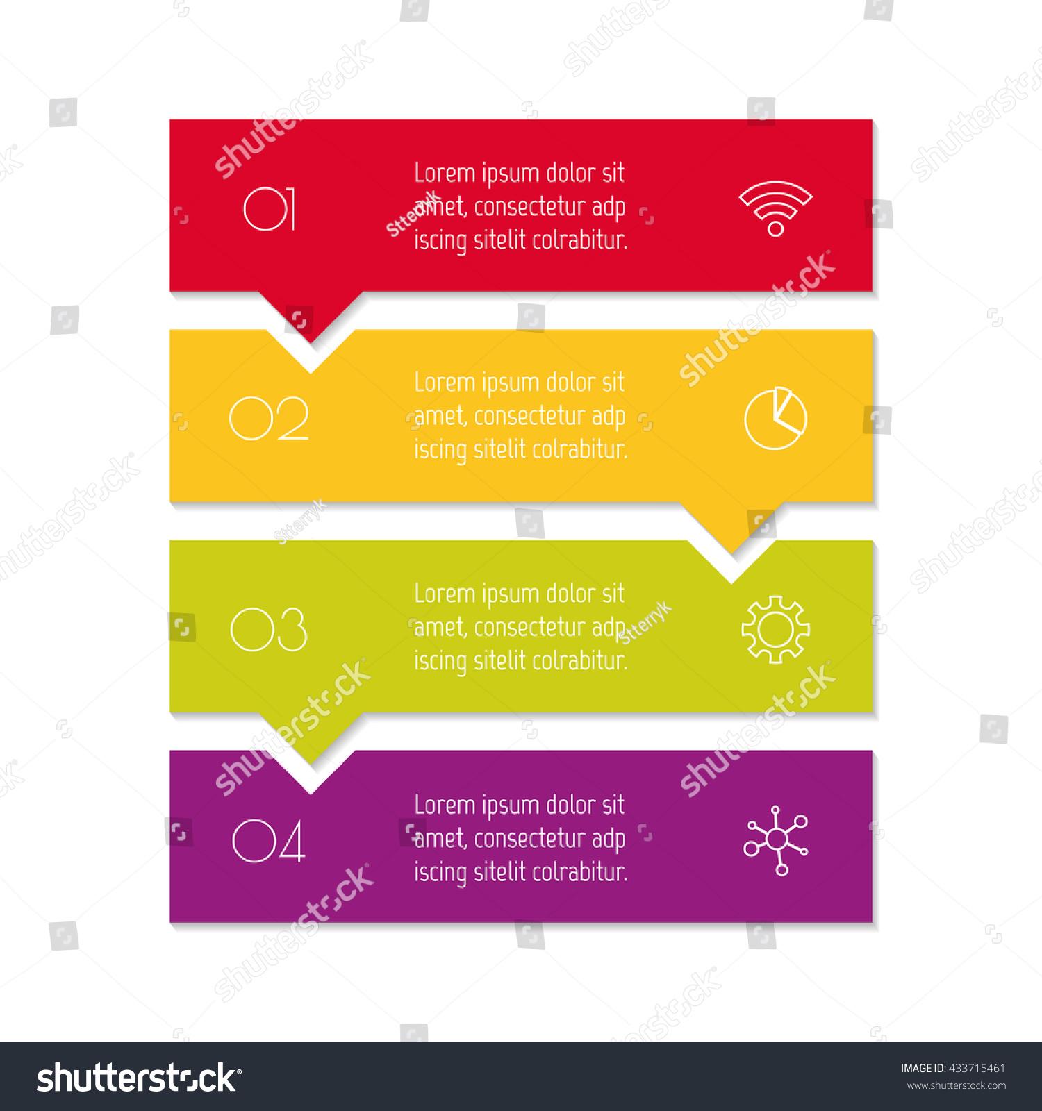 Vertical Puzzle Infographic Diagram Four Options Stock