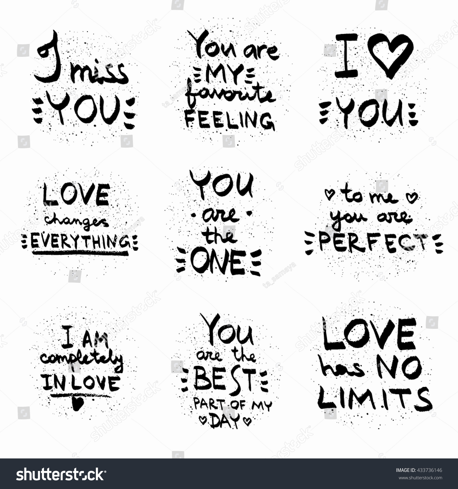 Black Love Quotes And Pictures | Love Quotes Black On White Vector Text Stock Vektorgrafik