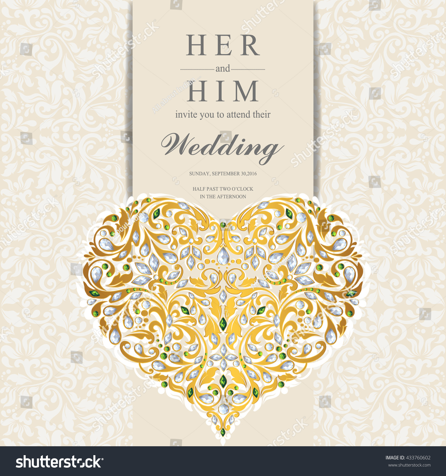 Wedding Card Invitation Card Card Abstract Stock Vector 433760602 ...