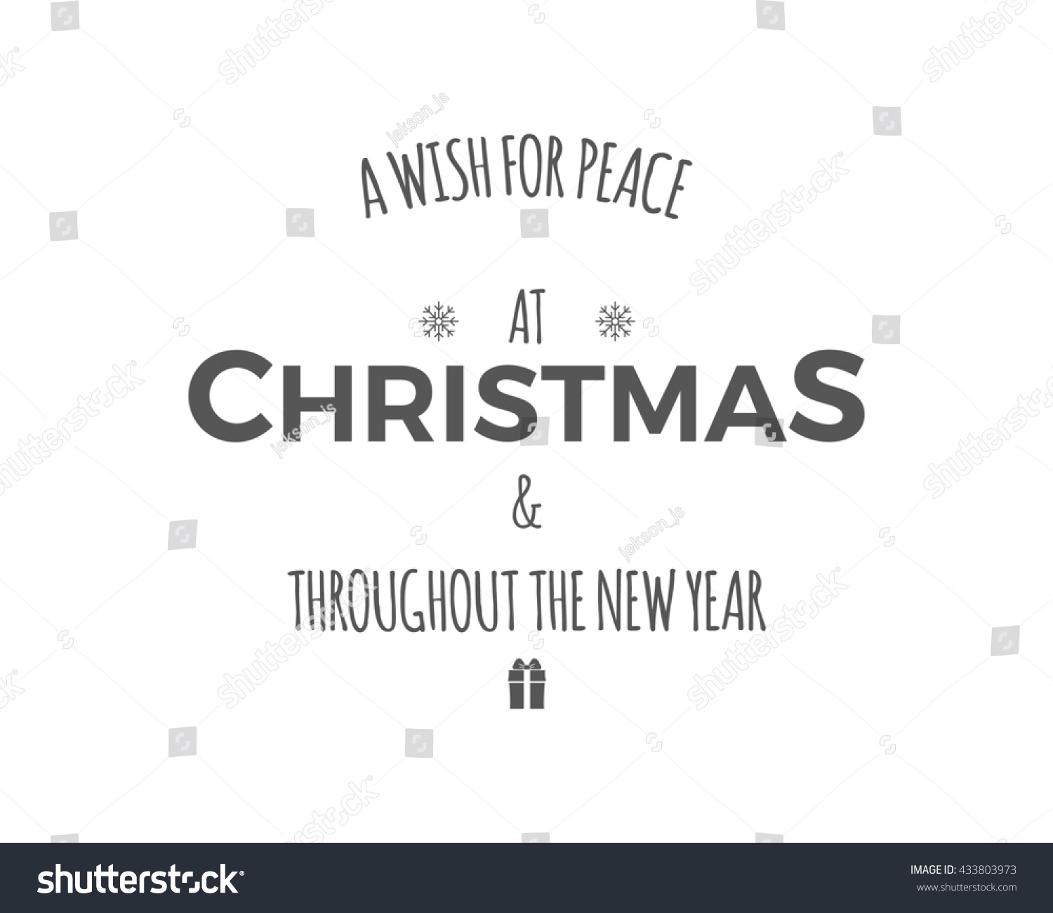 Merry Christmas Lettering Wishes Clipart Holiday Stock Illustration