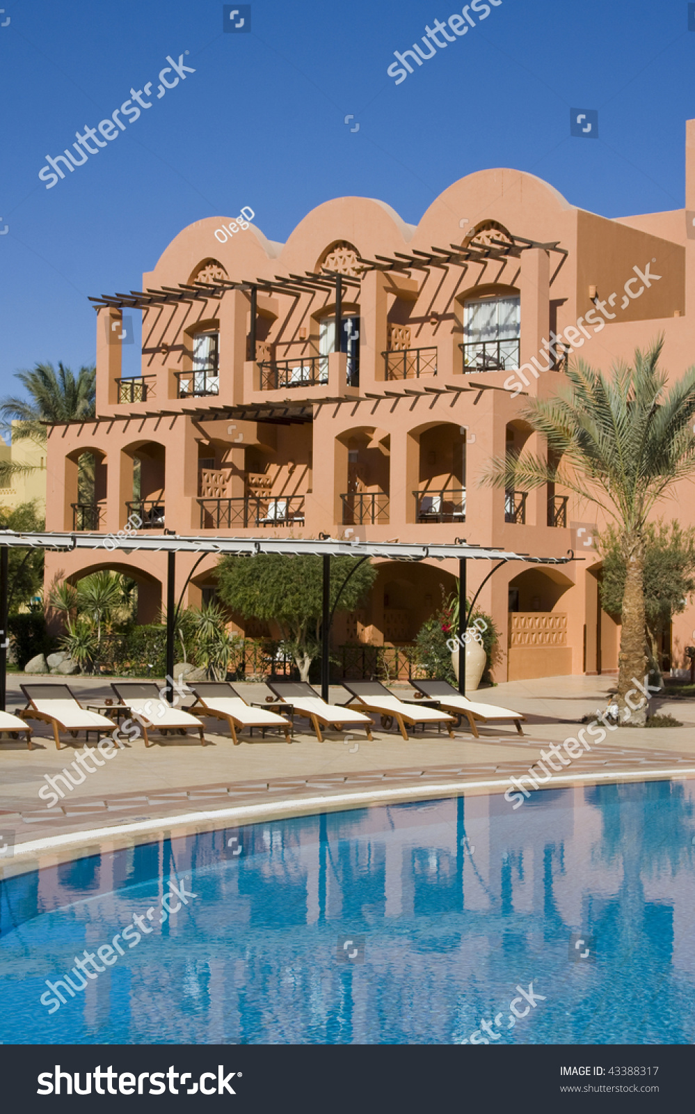 Swimming Pool On A Sunny Day Hurghada City In Egypt
