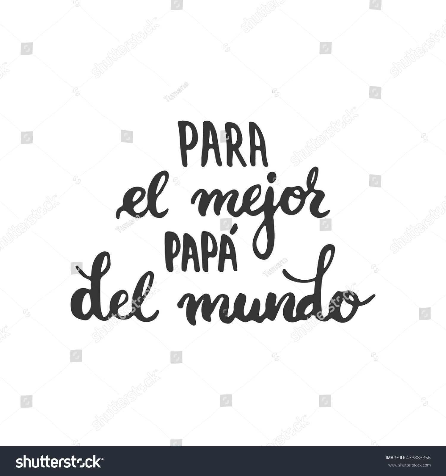 Fathers Day Lettering Calligraphy Phrase Spanish Stock Illustration
