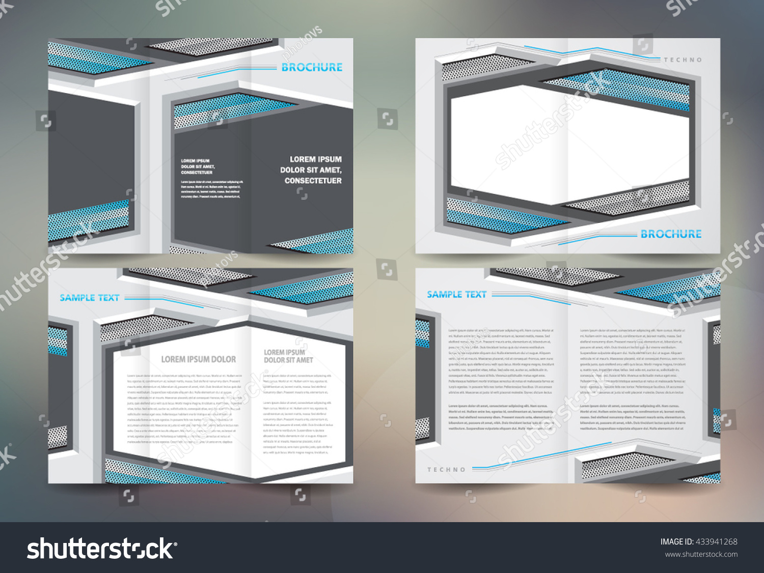 Business Brochure Set Design Template Folder Stock Vector