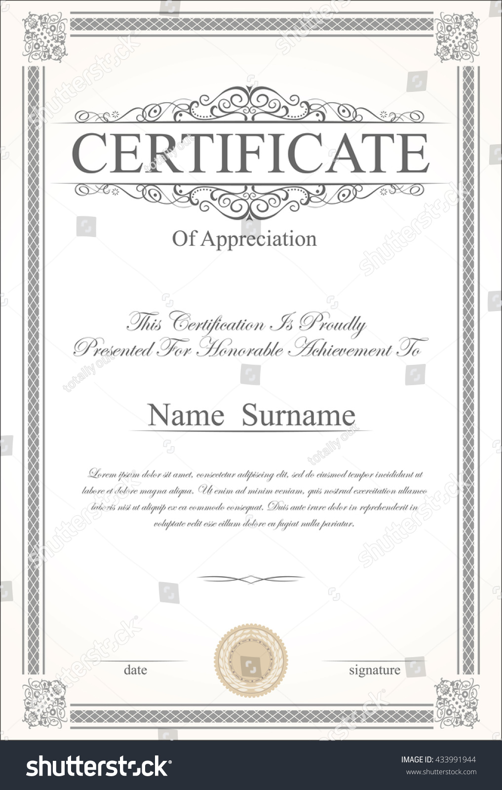 Seal certificate of appreciation formatted social worker resume seal certificate of appreciation formatted seal certificate of appreciation formatted yadclub Images