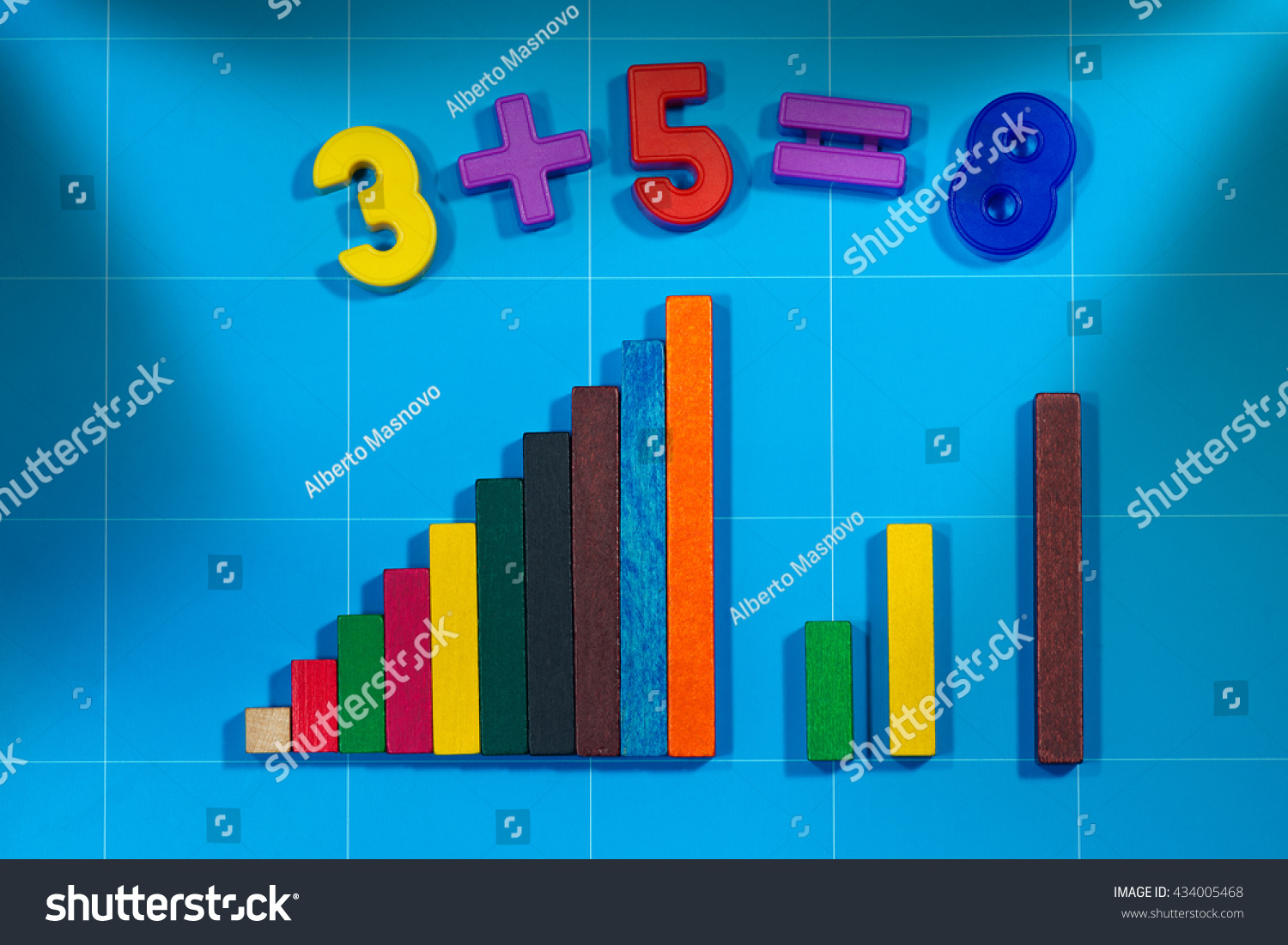 Magnetic Numbers Simple Mathematics Addition Colorful Stock Photo ...