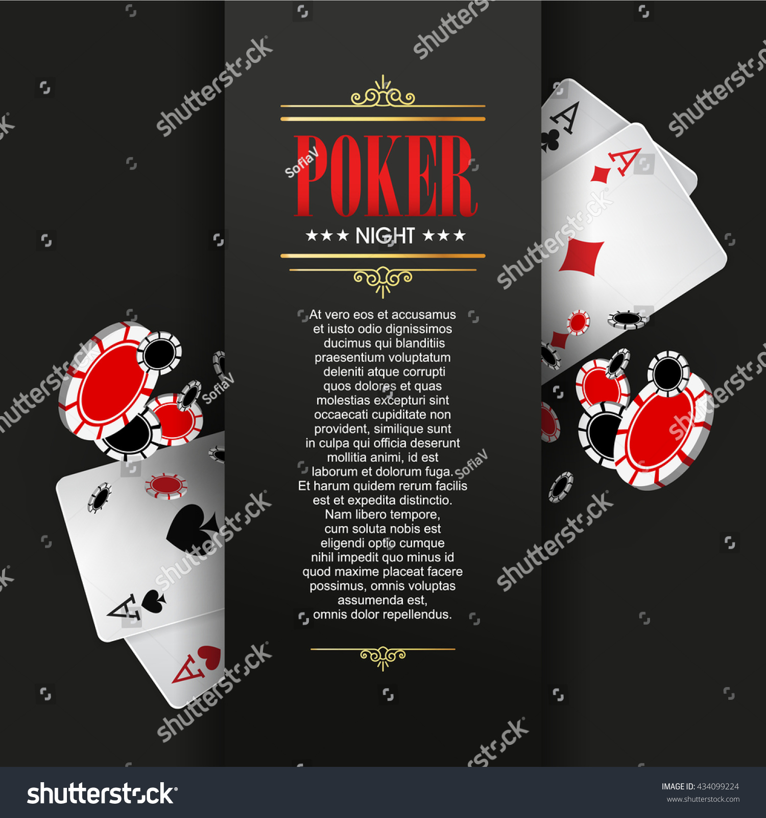 casino poster banner background flyer template のベクター画像素材
