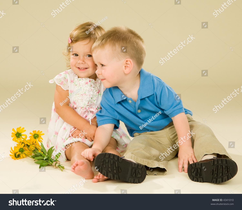 Super Cute Baby Couple Having Embrace Stock Photo Edit Now 4341010
