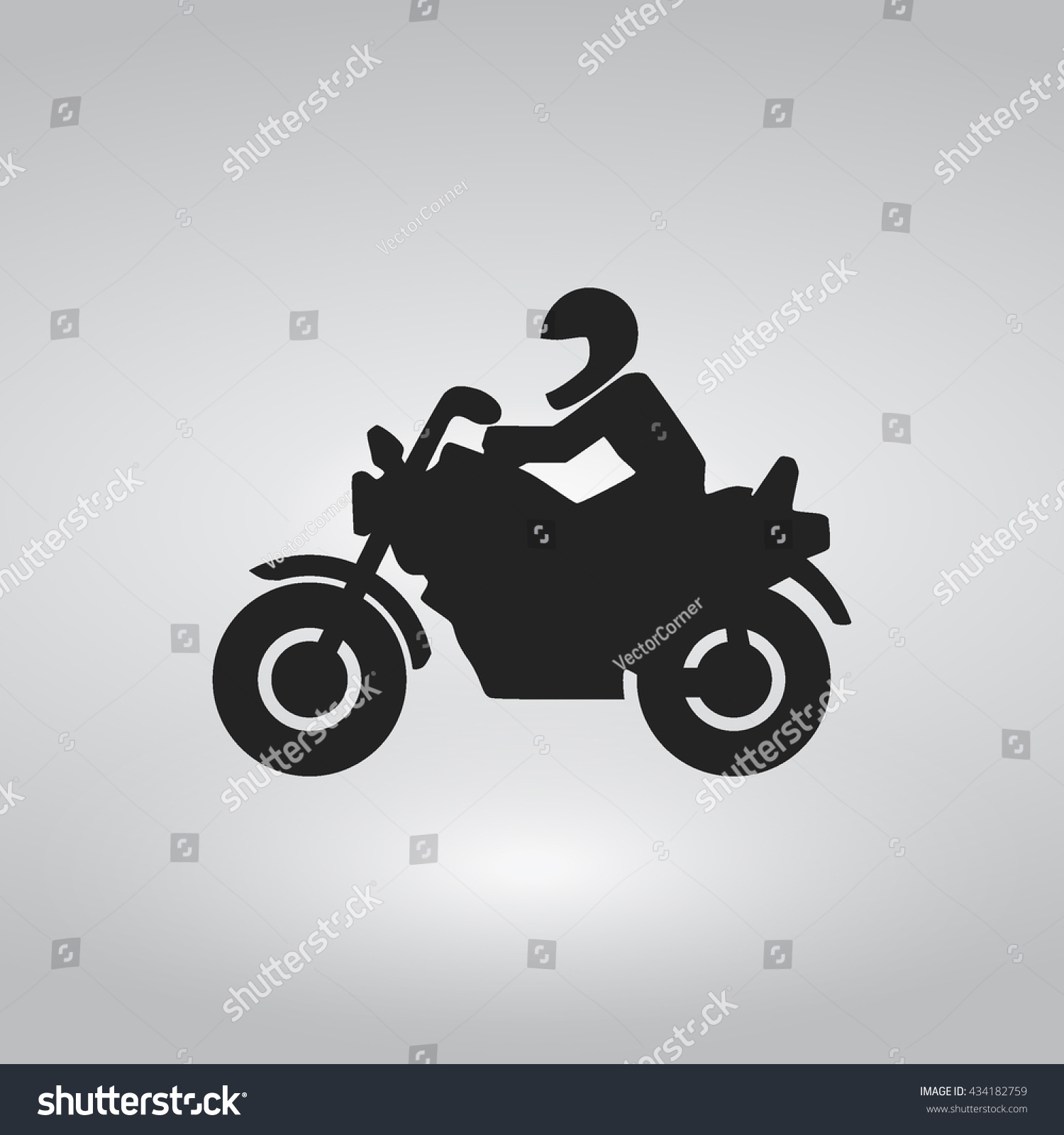 Simple Motorcycle Flat Icon Riding Motor Stock Vector HD (Royalty ...