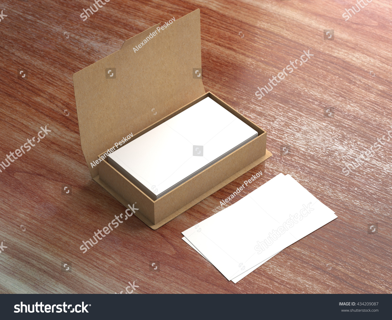 Business card craft carton box mock stock illustration 434209087 business card in craft carton box mock up contact cards in kraft paper container colourmoves