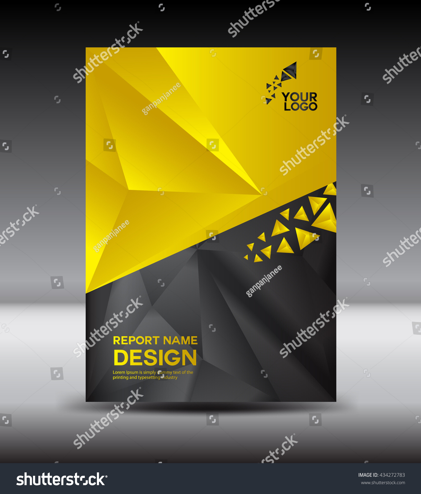 Yellow Black Cover Design Annual Report Stock Vector (Royalty Free ...