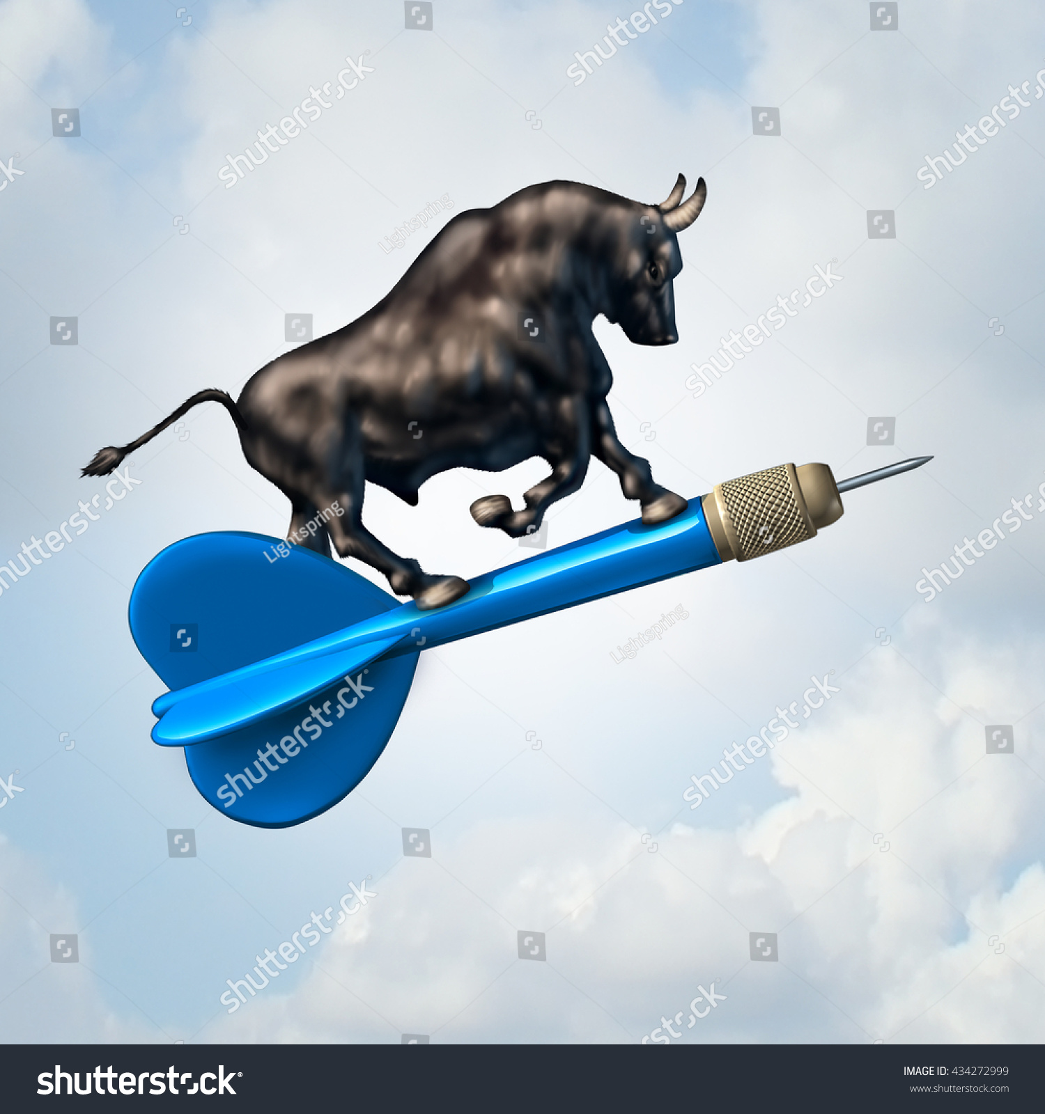 Bull market target financial concept profiable stock illustration bull market target financial concept and profiable stock goal business symbol as an optimistic bull riding buycottarizona