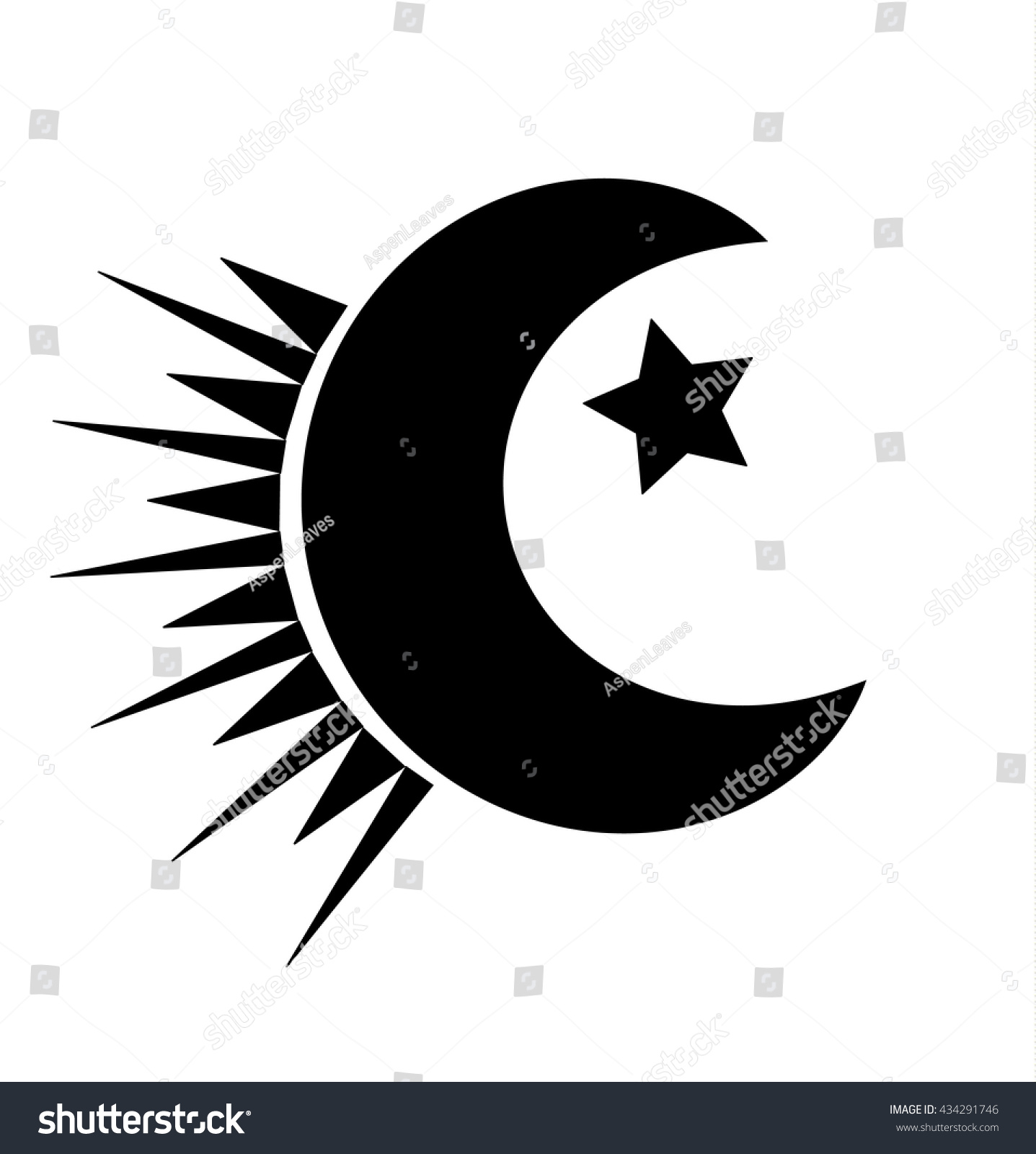 Islam Moon Symbol Stock Vector 434291746 Shutterstock