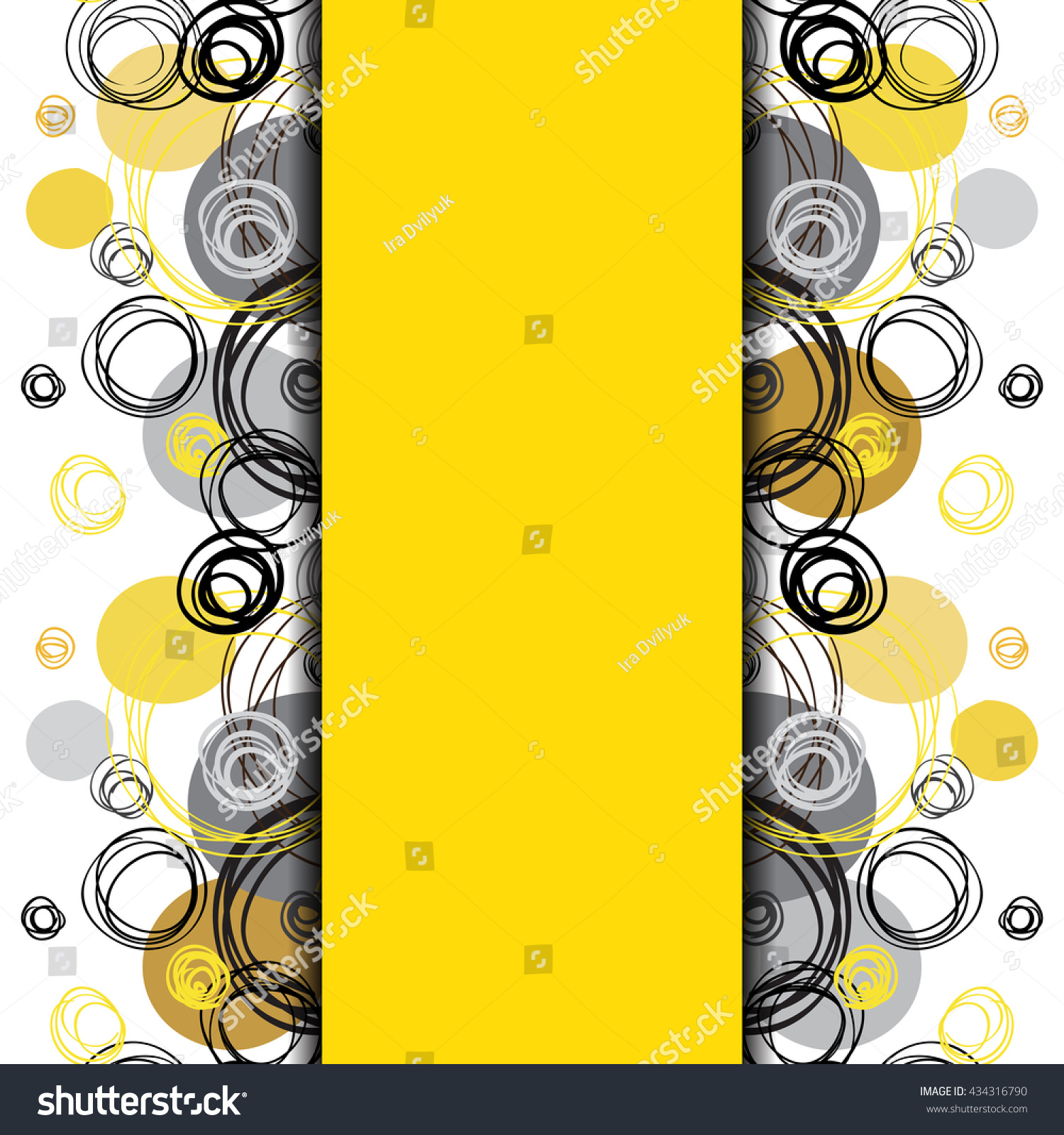 Background image vertical center - Abstract Geometric Background Vertical Center Border Stripe Design Black Yellow Gray Hand Drawn Intersecting