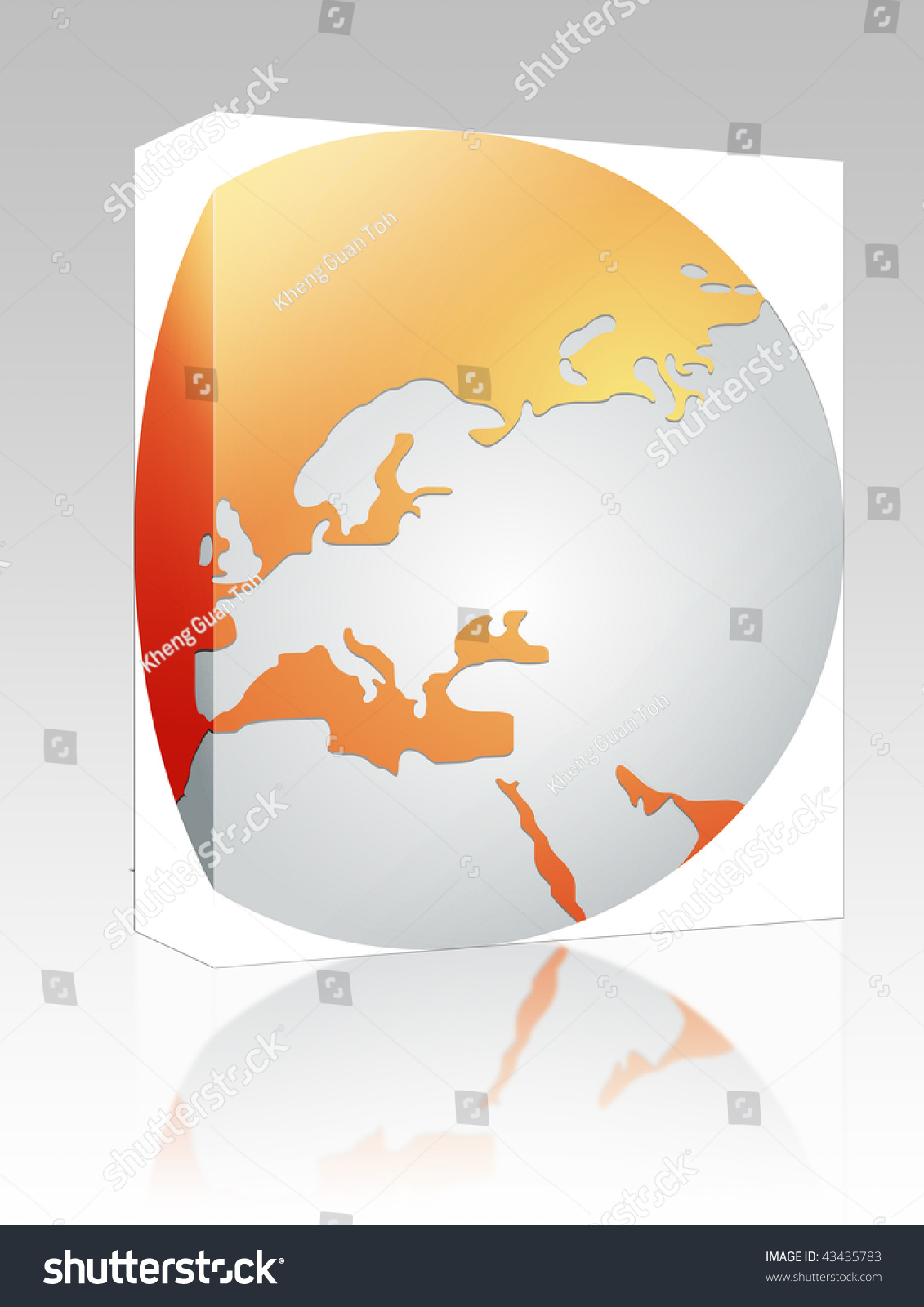 Software package box globe map illustration stock illustration software package box globe map illustration of europe continent countries gumiabroncs Images