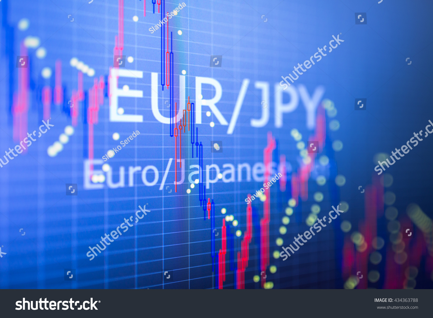 Analyzing Quotes Data Analyzing Foreign Finance Market Charts Stock Photo 434363788