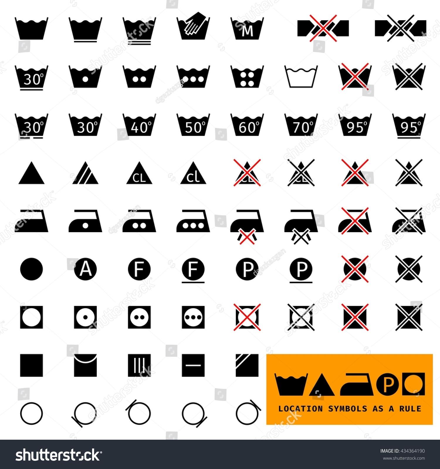 Symbols for clothing care images symbol and sign ideas icon set symbols washing laundry ironing stock vector 434364190 icon set symbols for washing laundry ironing buycottarizona