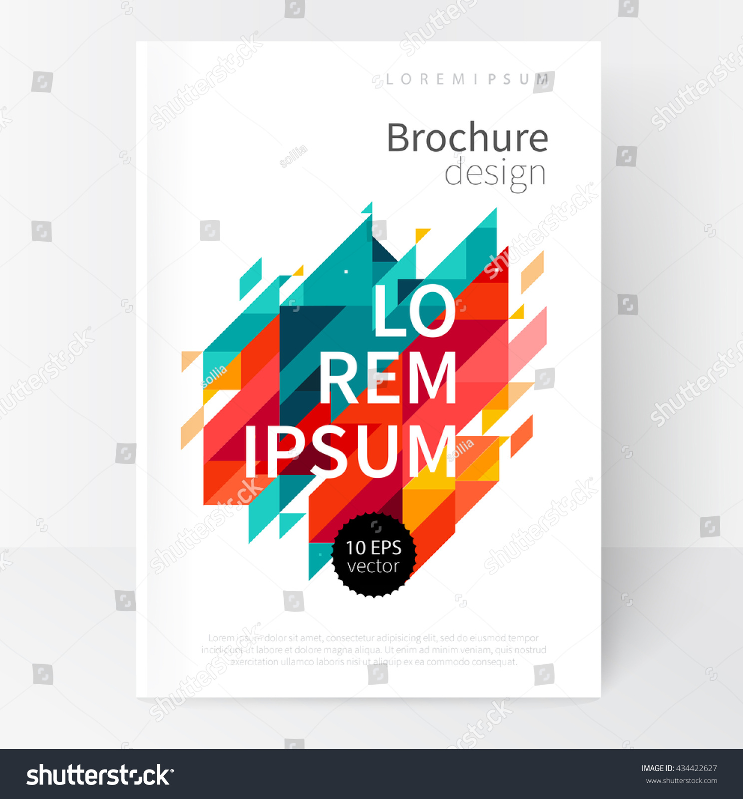 Brochure Booklet Flyer Or Book Cover Template Vector : Minimalistic white cover brochure design flyer stock