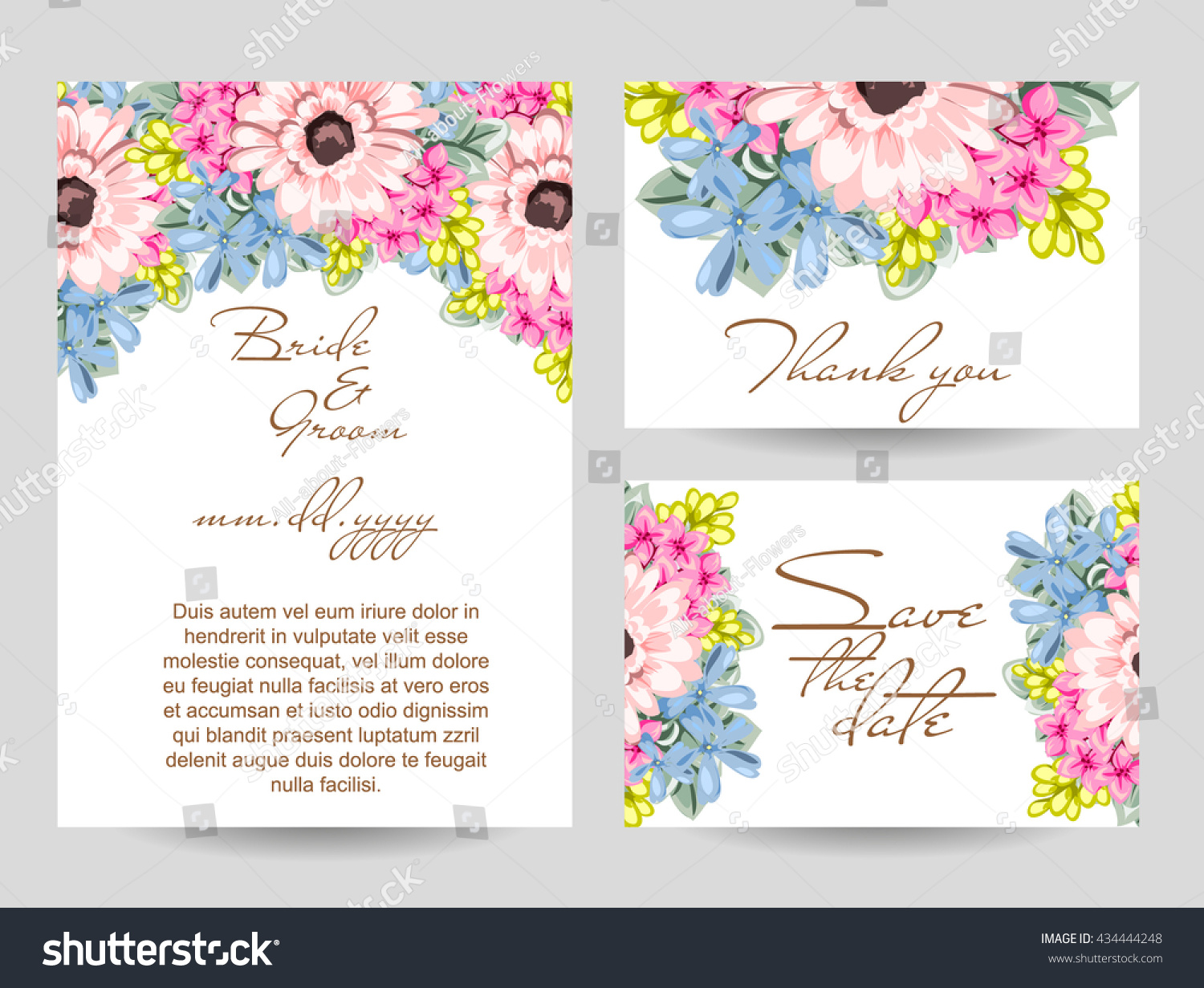 Romantic invitation Wedding marriage bridal birthday Valentine's day