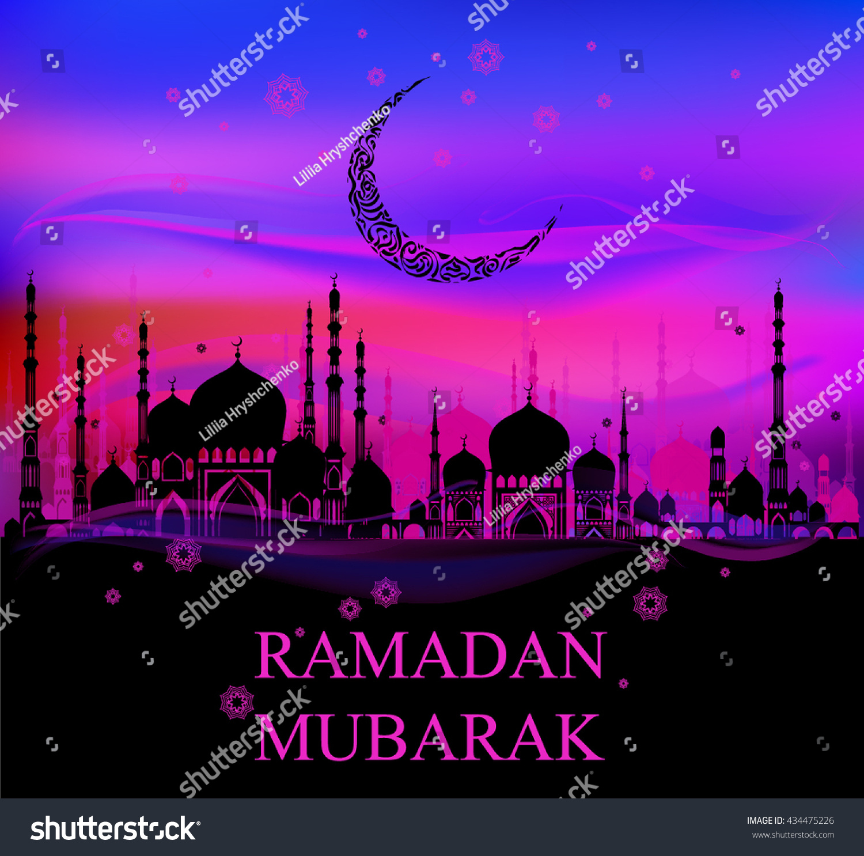 Eid mubarak mubarak ramadan islamic motifs stock vector 434475226 eid mubarak mubarak ramadan islamic motifs vector illustration beautiful greeting card kristyandbryce Choice Image