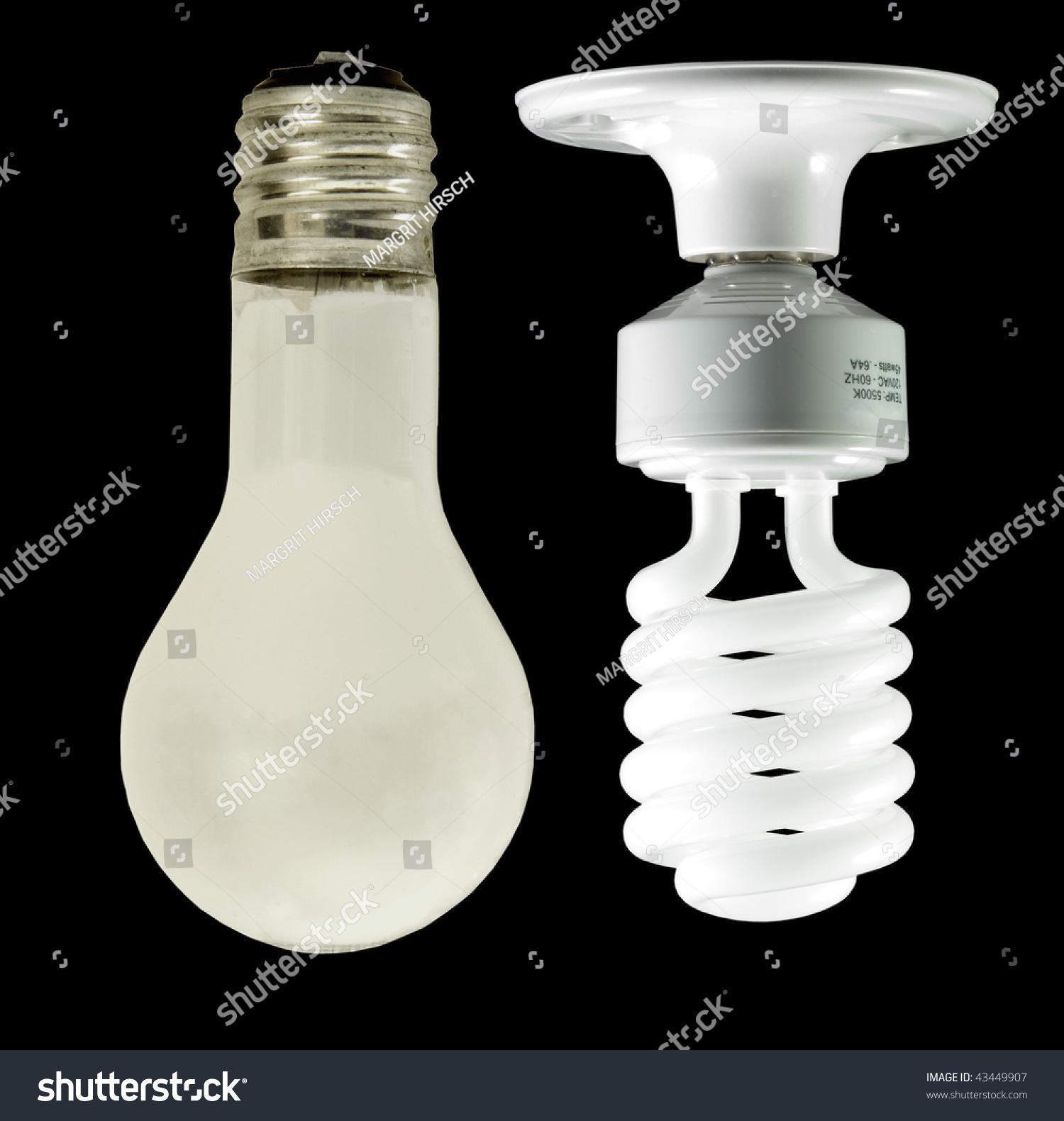 Old New Ecofriendly Lightbulbs Stock Photo 43449907 Shutterstock