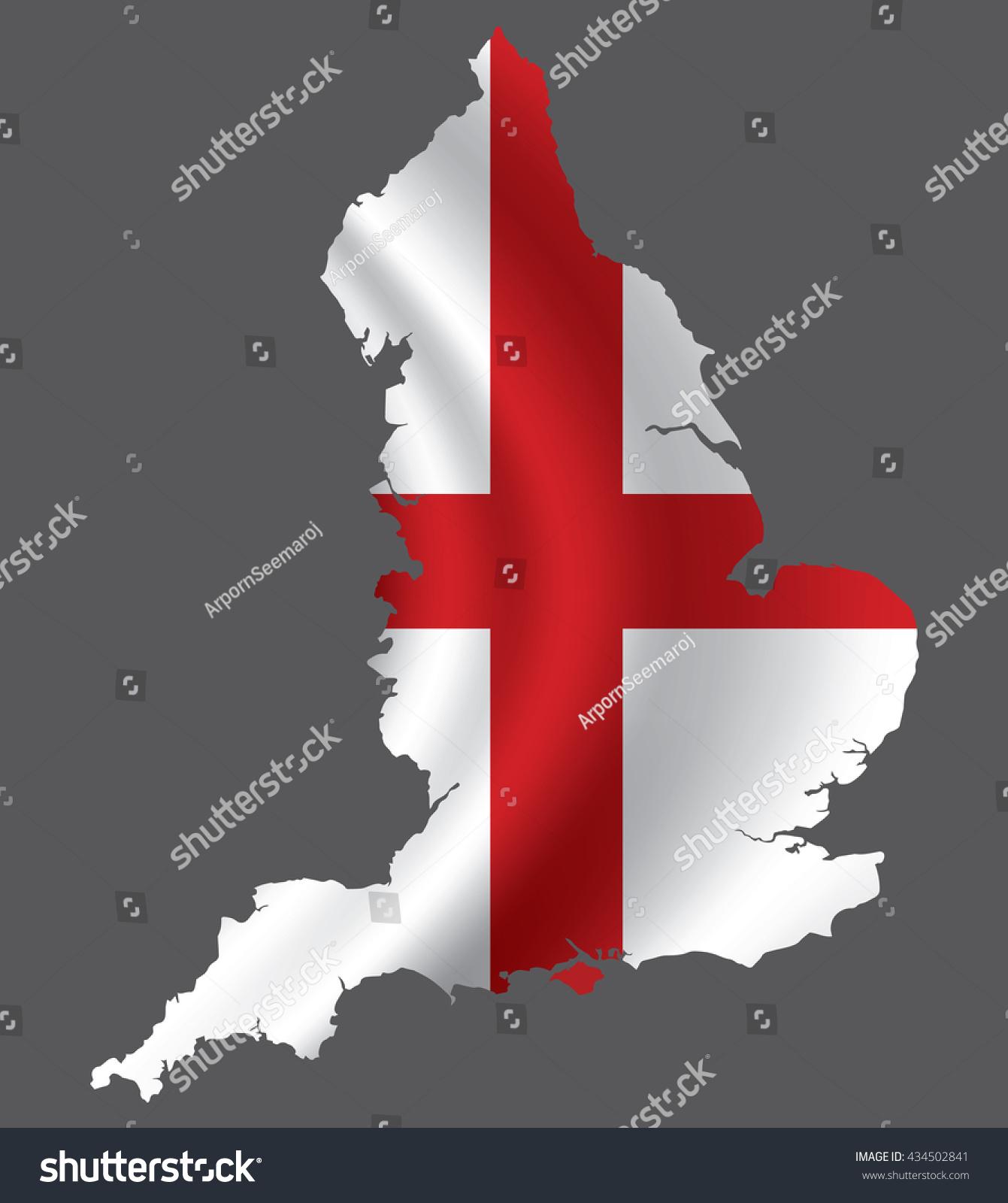 Vector England Flag Blowing Wind England Stock Vector 434502841 ...