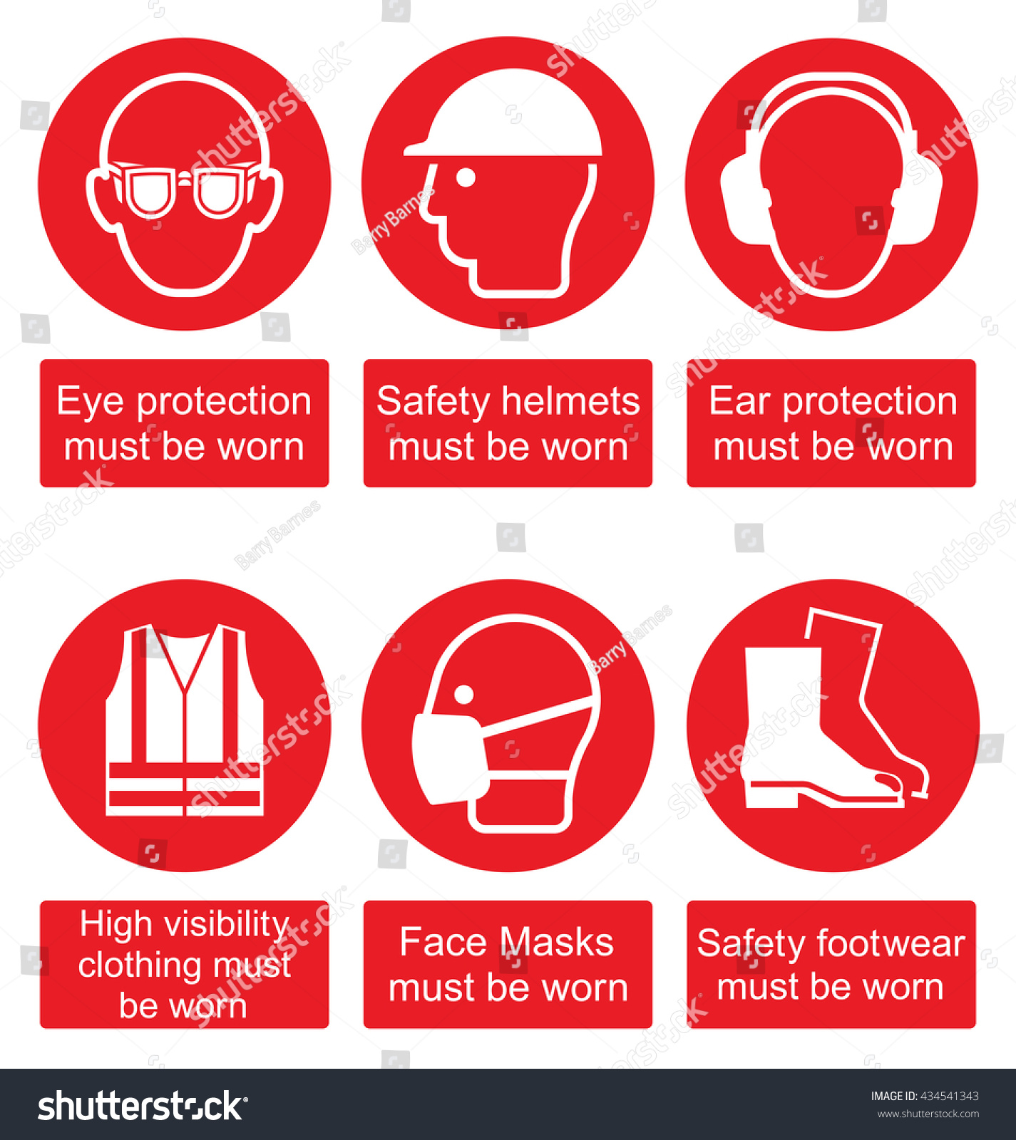 Red mandatory construction manufacturing engineering health stock red mandatory construction manufacturing and engineering health and safety signs to current british standards isolated on biocorpaavc