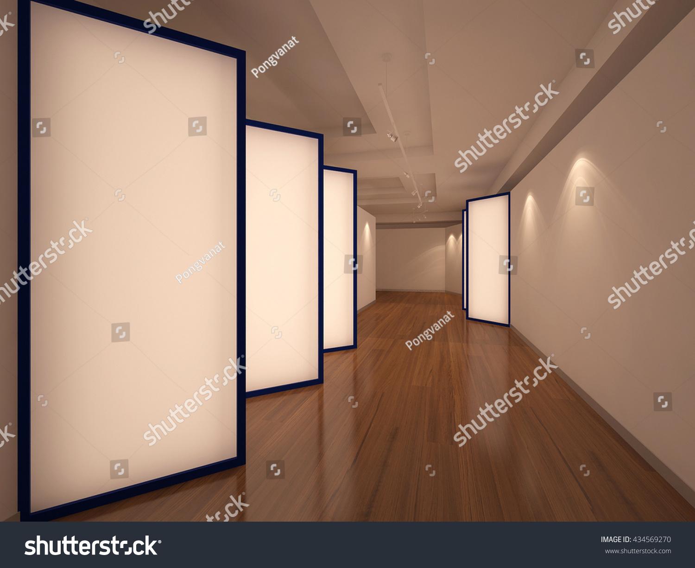 Exhibition Light D Model : Exhibition partition light 3 d interior render stock illustration