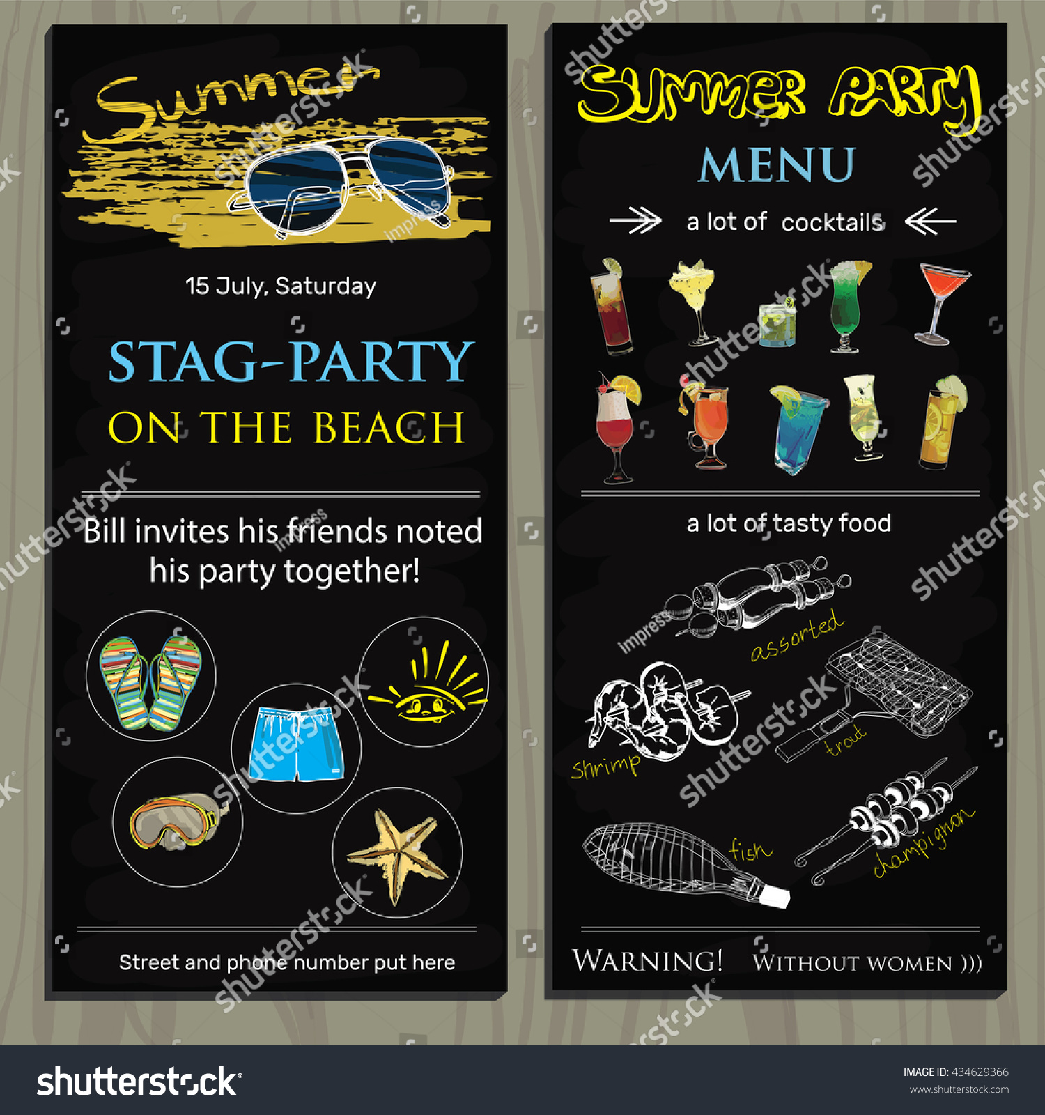Doc Stag Party Invites Girl Pirate Stag Night 42 Similar – Stag Party Invitation