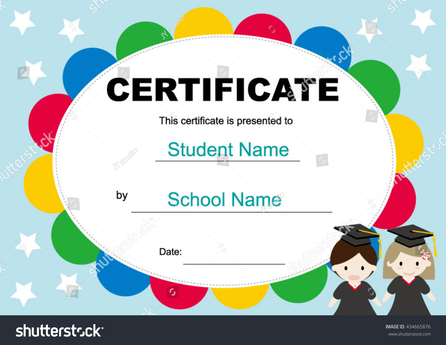 Royalty Free Certificate Of Graduation For 434665876 Stock Photo