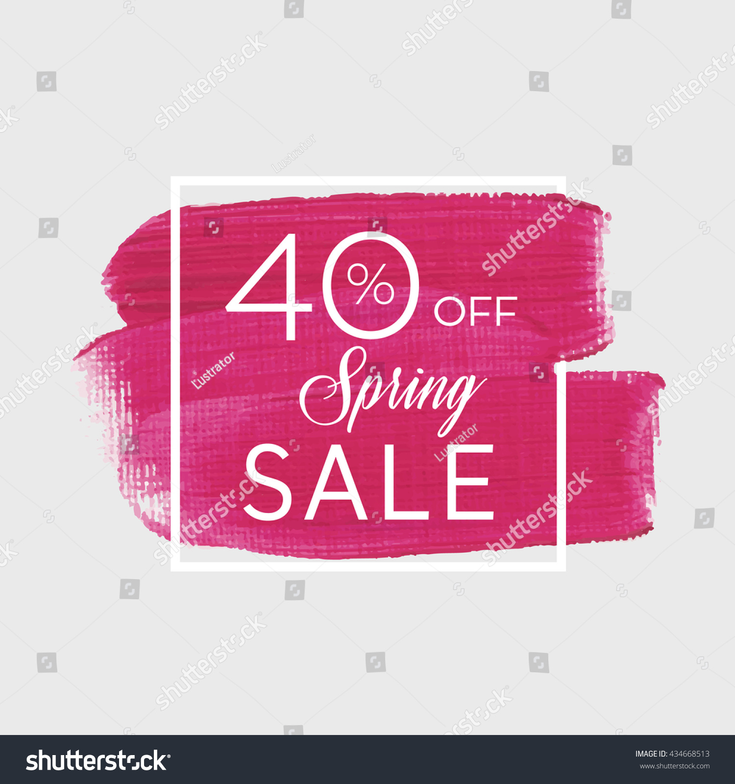 sale season spring sale 40 off stock vector 434668513 shutterstock. Black Bedroom Furniture Sets. Home Design Ideas