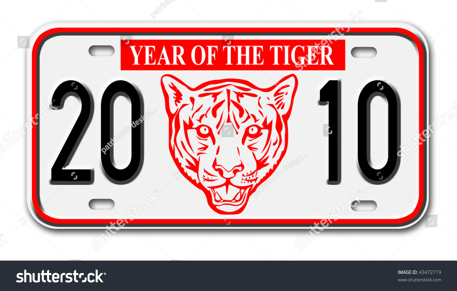 Illustration Car License Plate New Year Stock Illustration ...