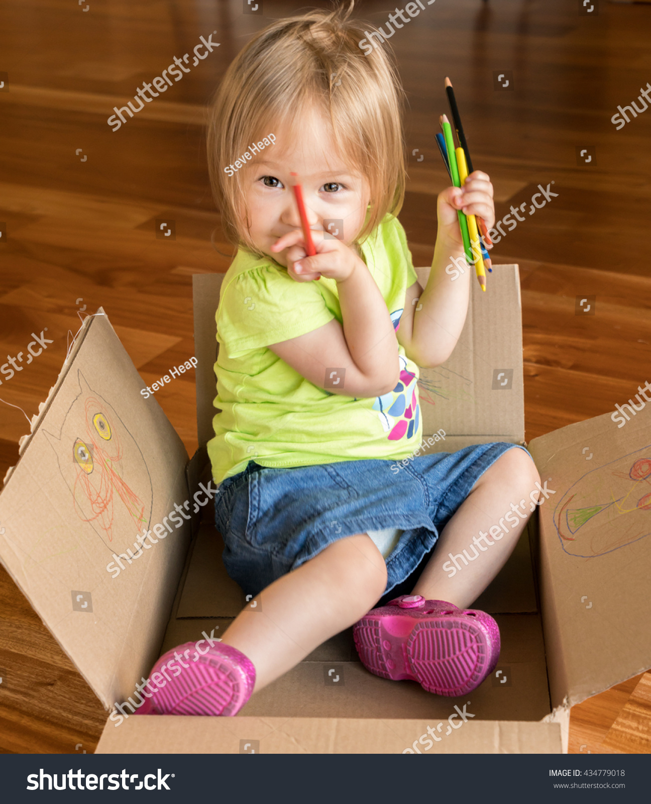 Young Two Year Old Girl Sitting Stock Photo 434779018 Shutterstock