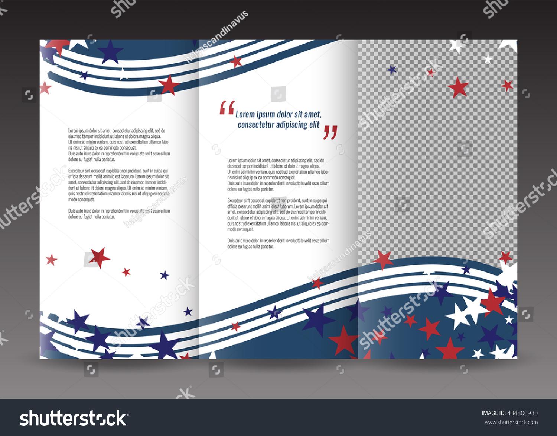 america brochure template - trifold business brochure template design american stock