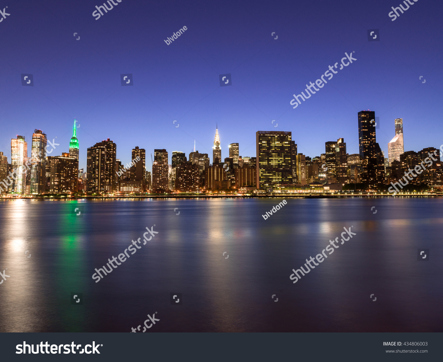 new york city manhattan buildings skyline stock photo 434806003 shutterstock. Black Bedroom Furniture Sets. Home Design Ideas