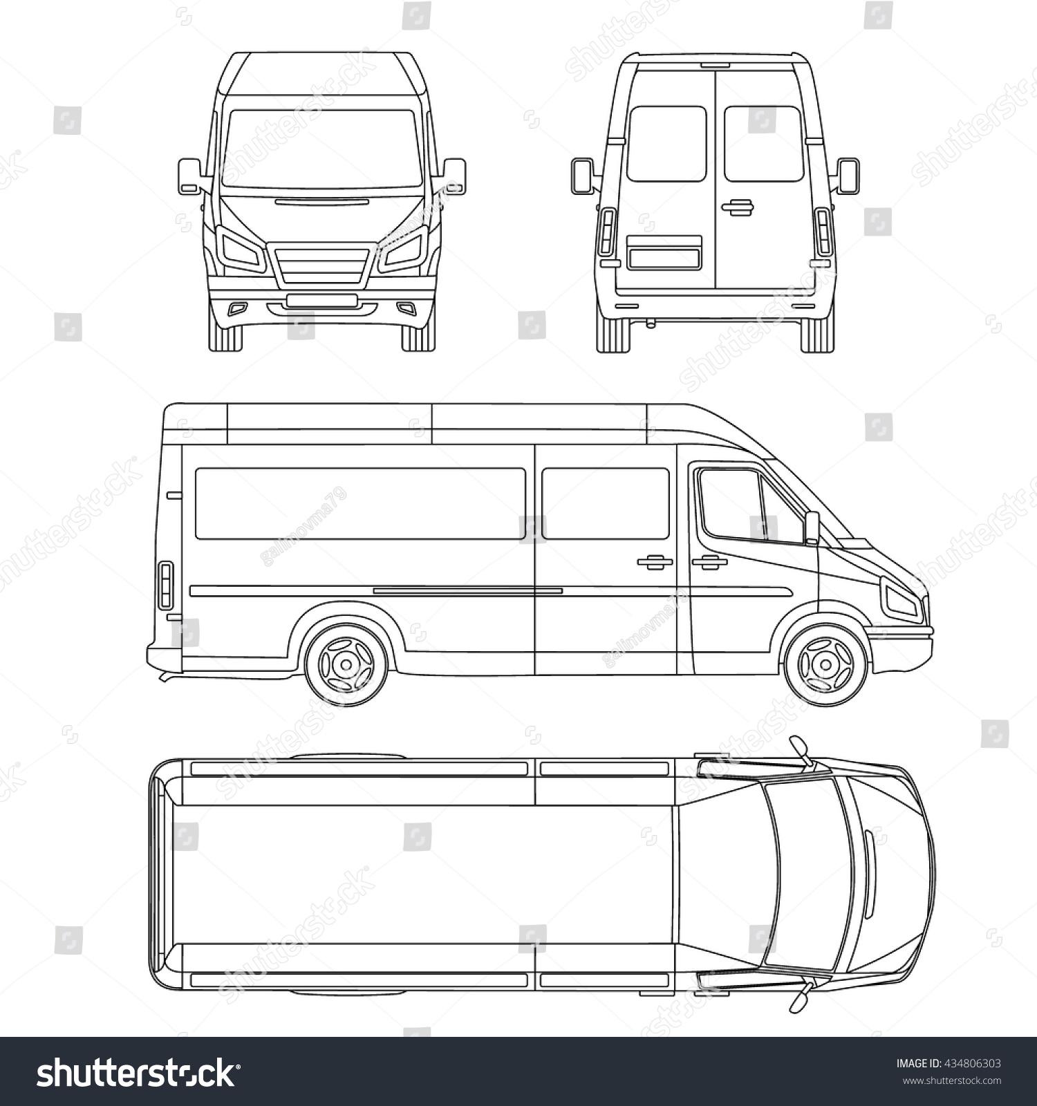 wiring diagram for volkswagen van royalty-free car template. white blank commercial ... damage diagram for 2018 van