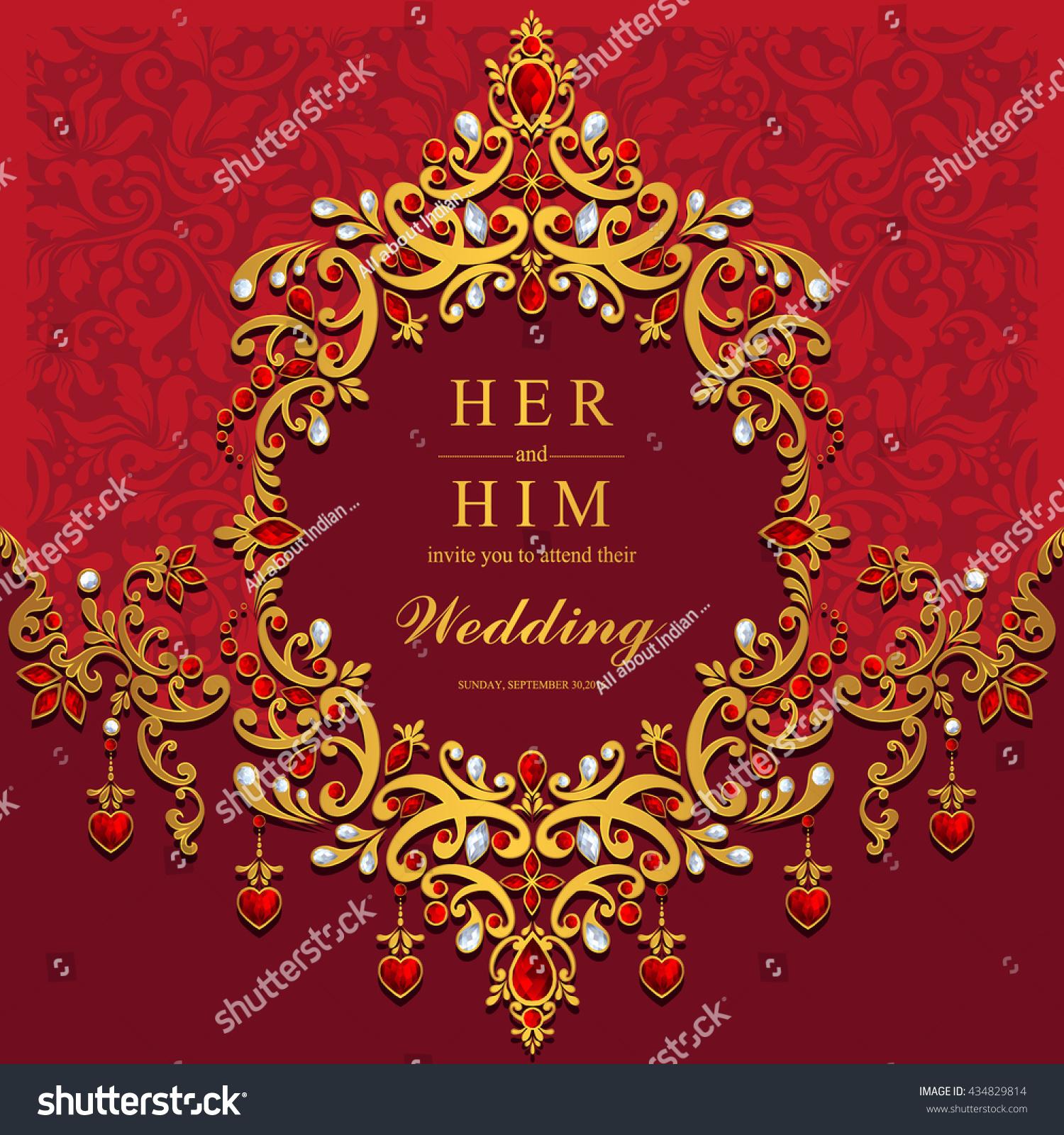 Wedding Card Invitation Card Card Abstract Stock Vector 434829814 ...