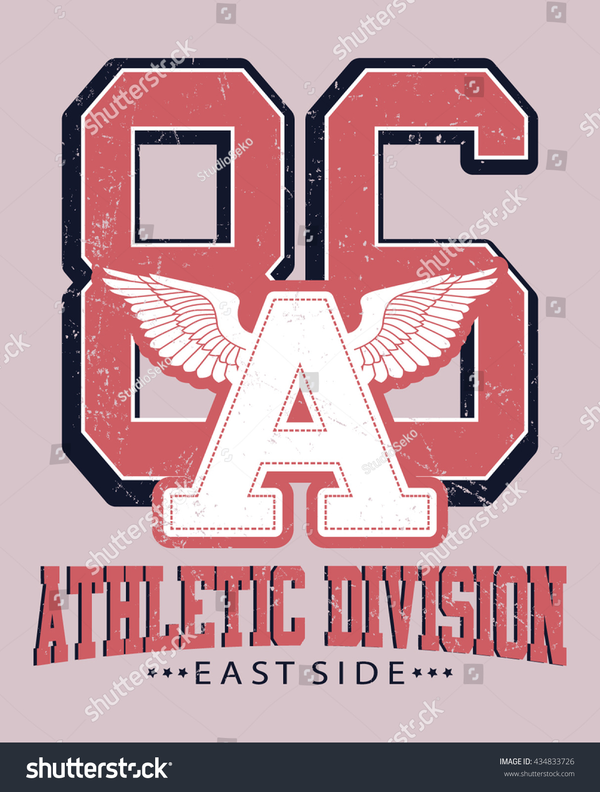 Royalty Free Athletic Division East Side Varsity 434833726 Stock