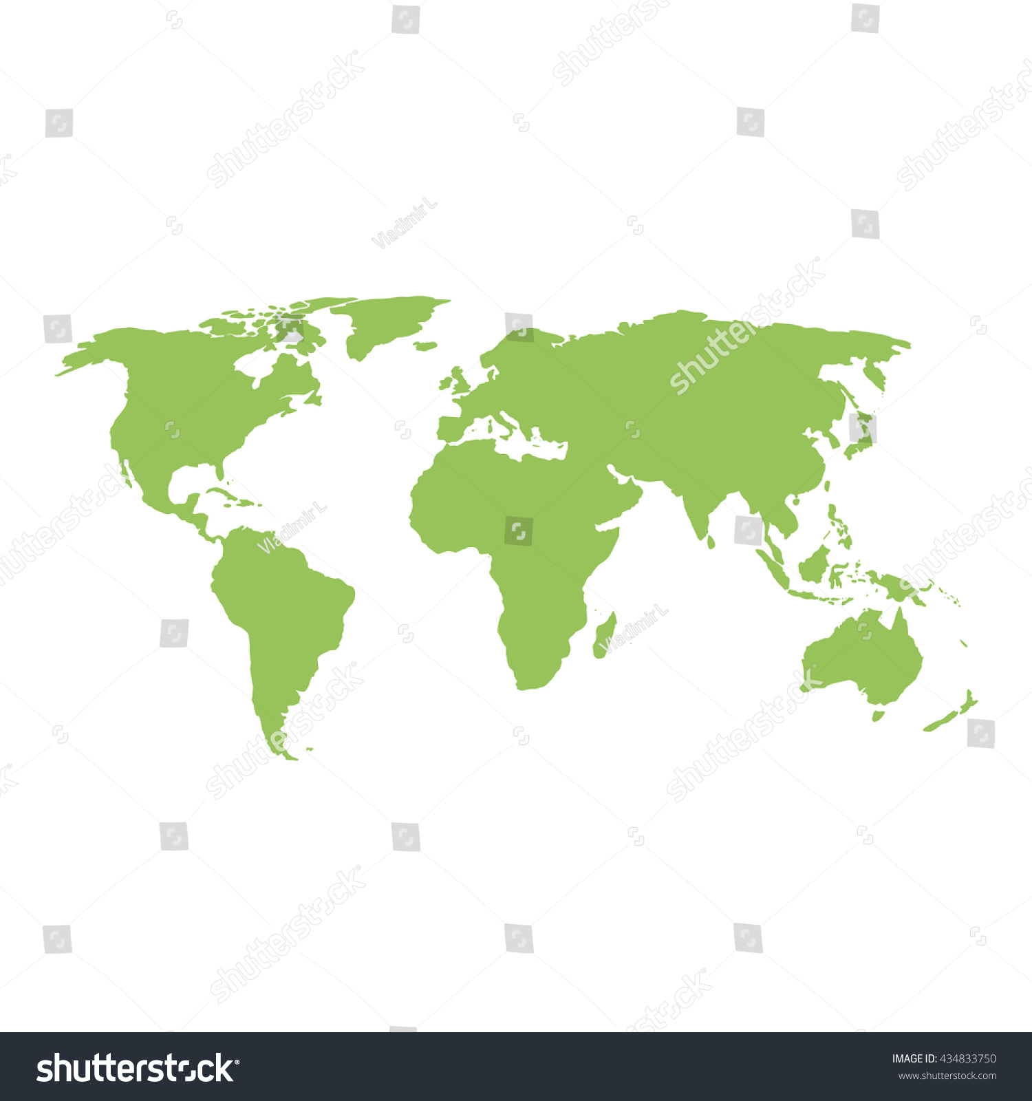 Earth Map Outline Silhouette World Stock Vector - Earth map outline