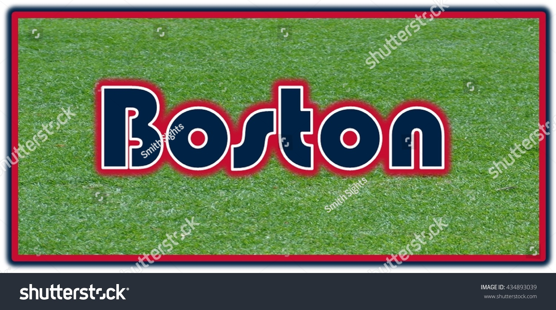 boston word clip art stock illustration 434893039 Red Sox Printable Logo Boston Red Sox Logo Template