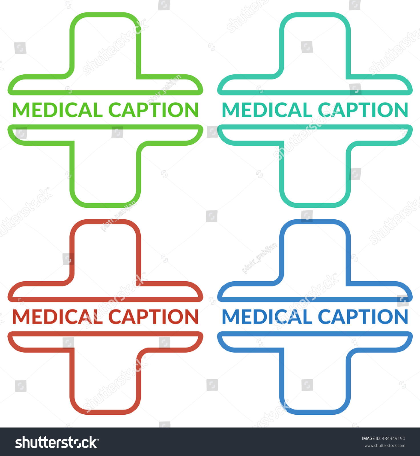 Medical Cross Symbol Medical Logo Sample Stock Illustration