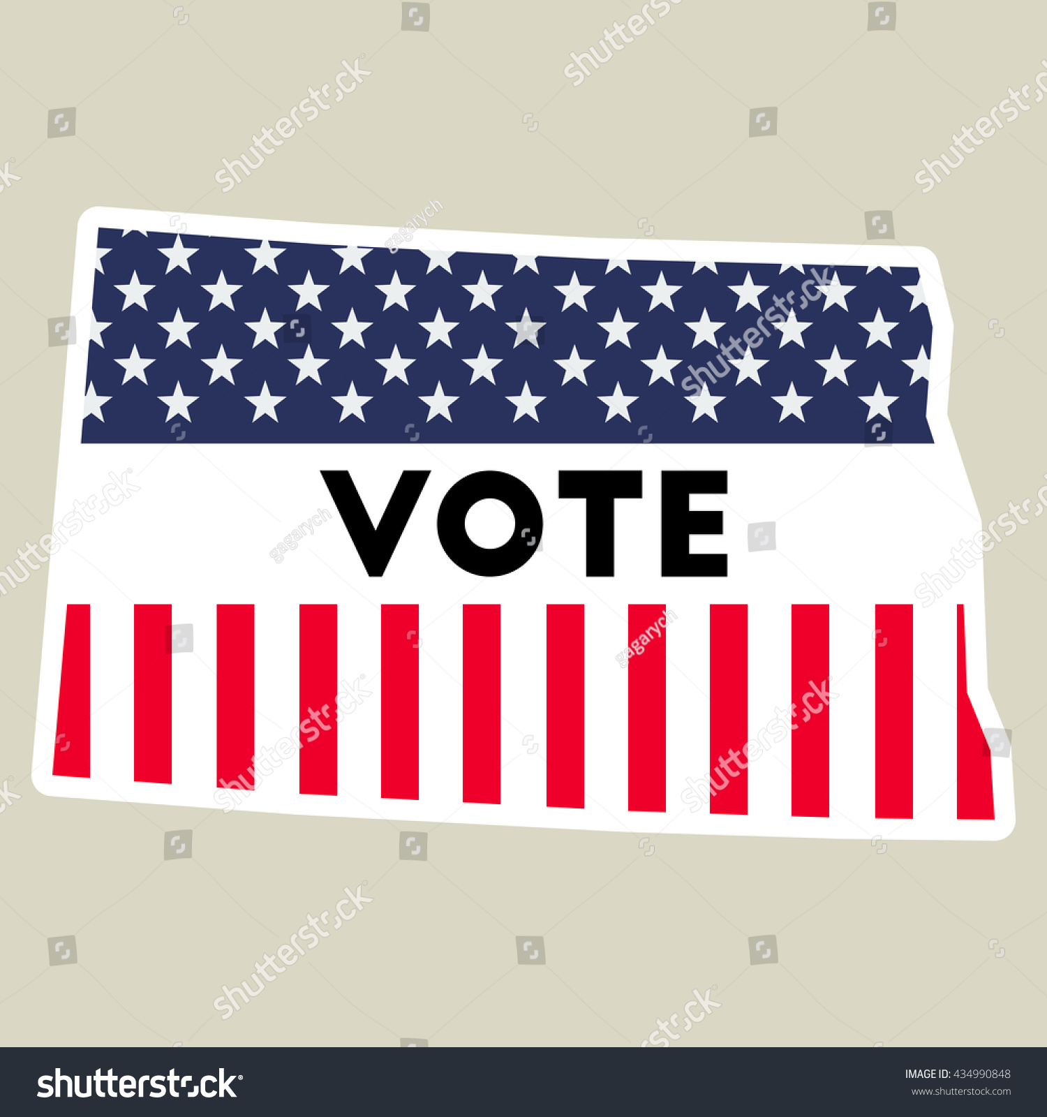 Usa Presidential Election Vote Sticker Stock Vector - Us election day 2016 map