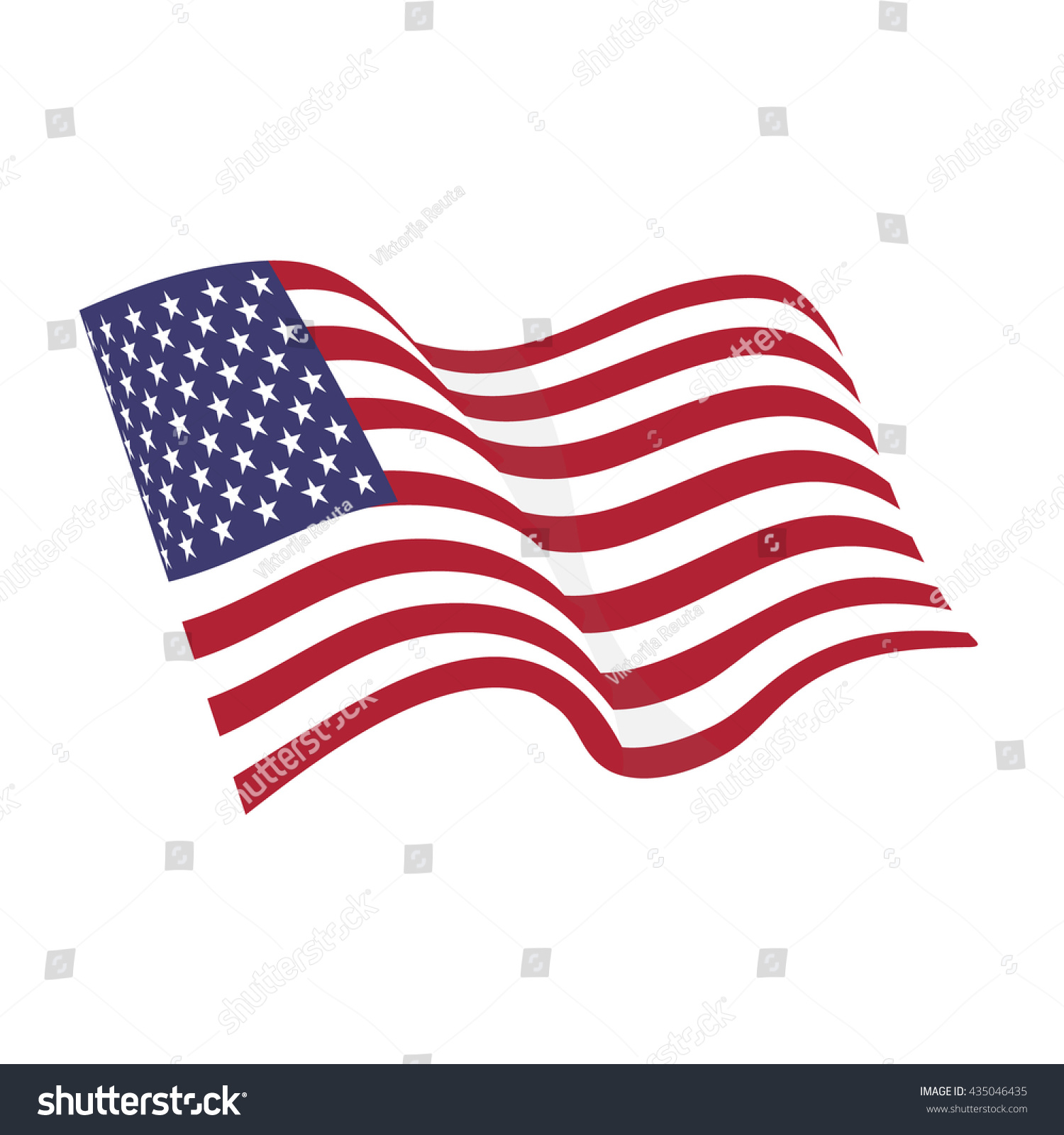 American waving flag vector icon national stock vector 435046435 american waving flag vector icon national symbol red white and blue with stars biocorpaavc Choice Image