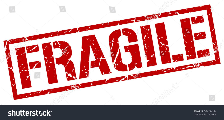Fragile Stampstampsignfragile Stock Vector 435109435 ...