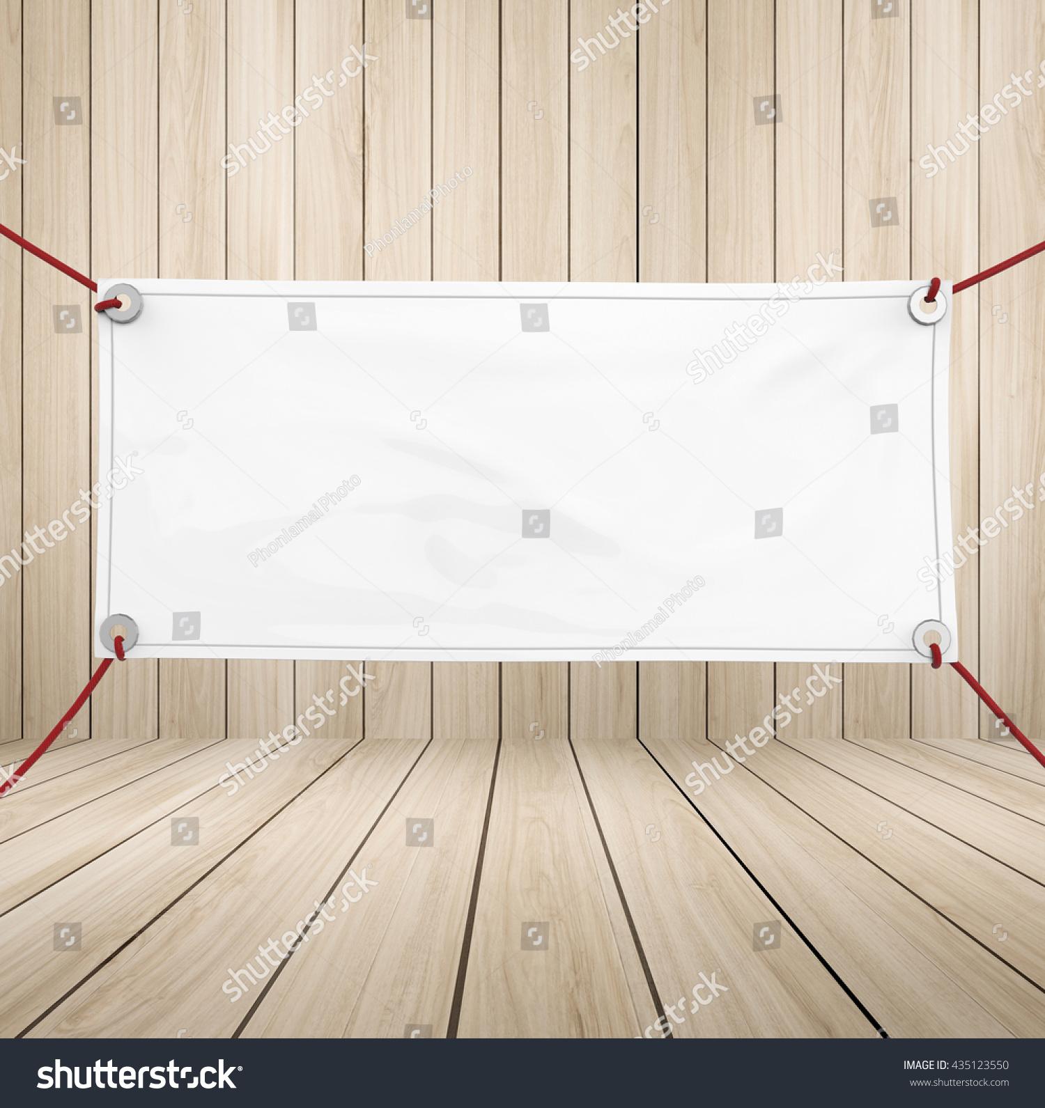D Rendering Blank Vinyl Banner Hanging Stock Illustration - Blank vinyl banners