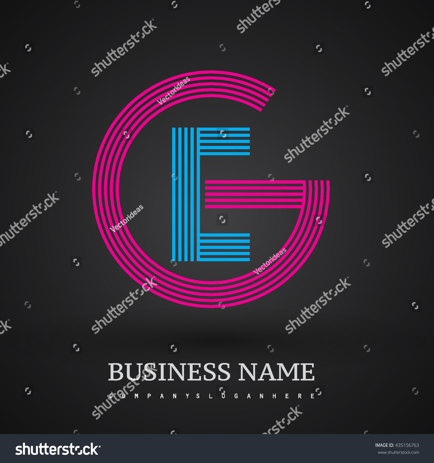 Letter ge linked logo design circle stock vector 435156763 letter eg or ge linked logo design circle g shape elegant red and blue colored biocorpaavc Gallery