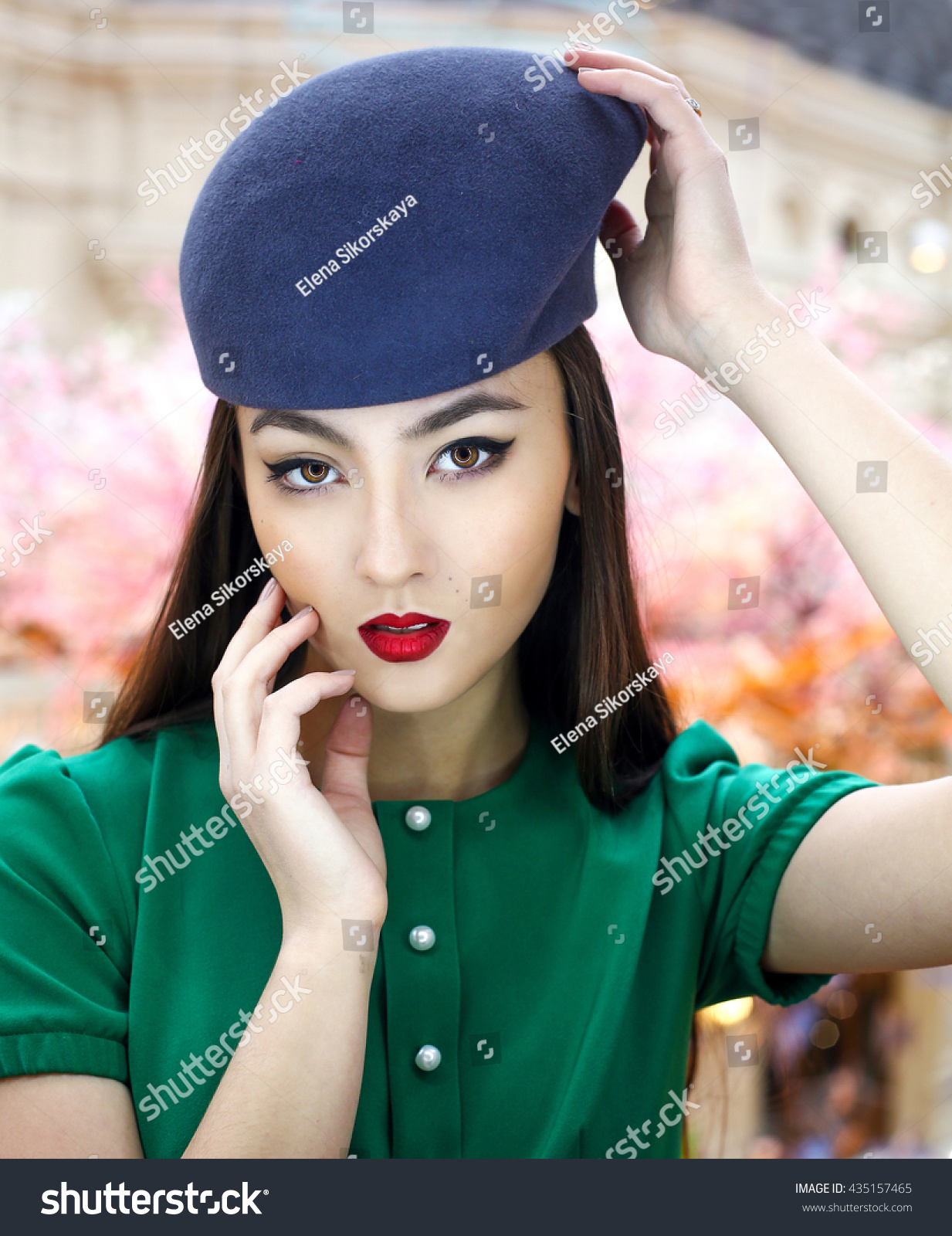 Girl stylish images with hat