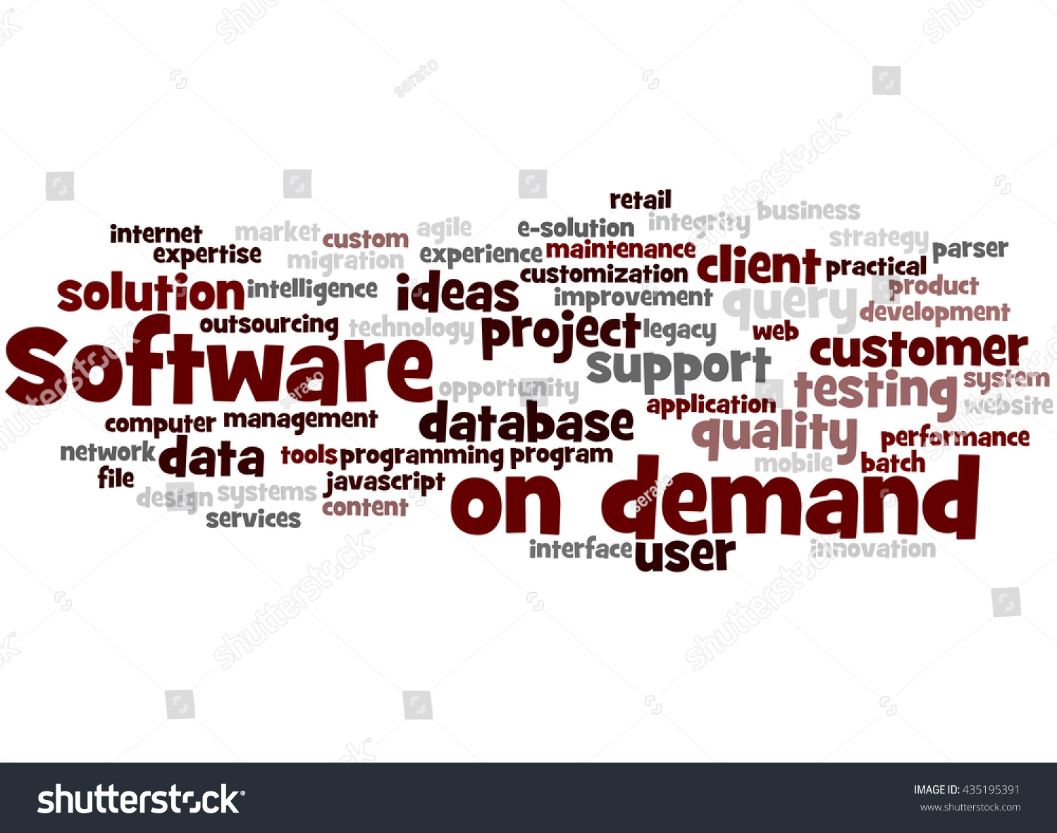 Software On Demand Word Cloud Concept Stock Illustration