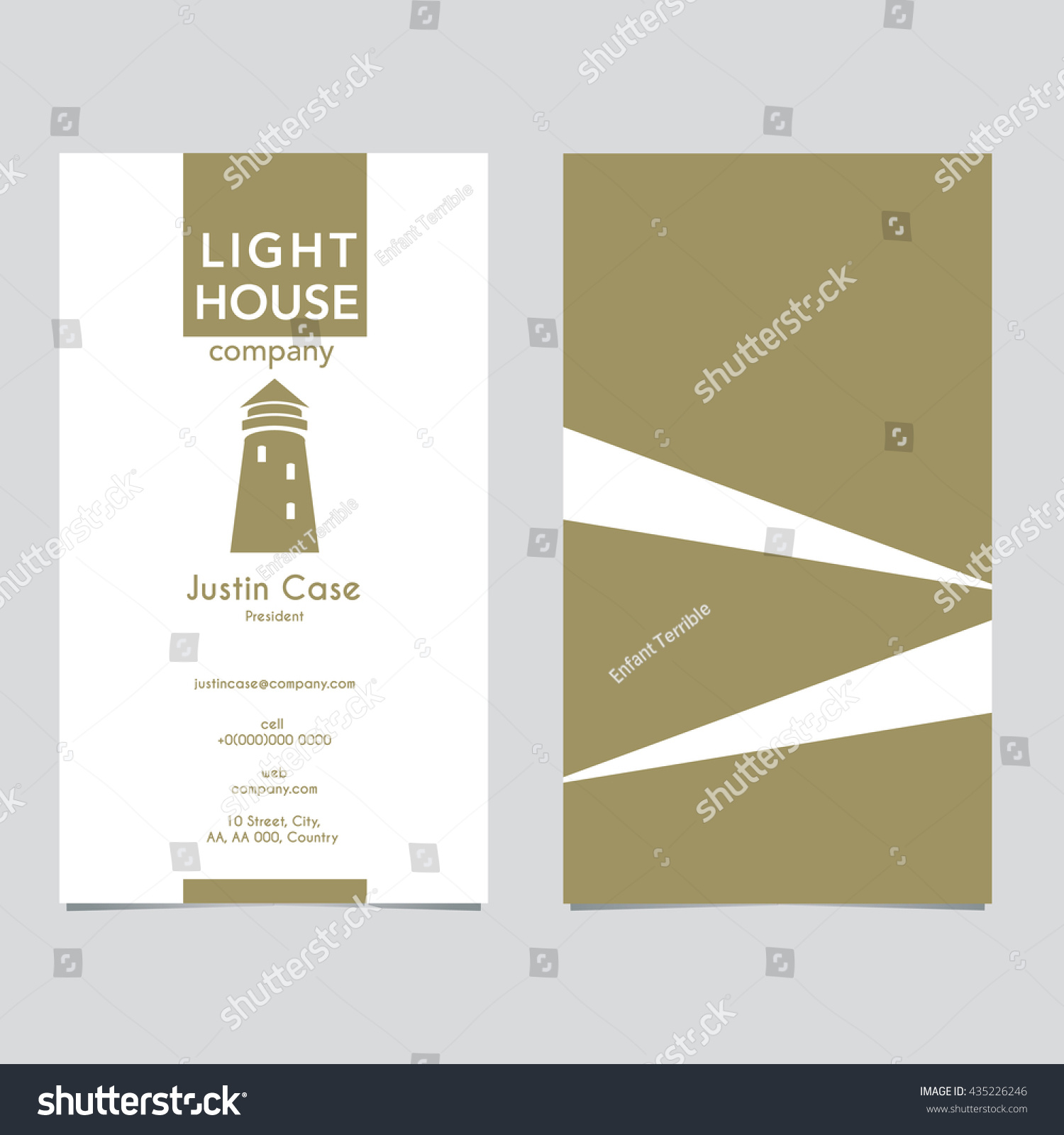 Lighthouse Business Sign Business Card Vector Stock Photo (Photo ...