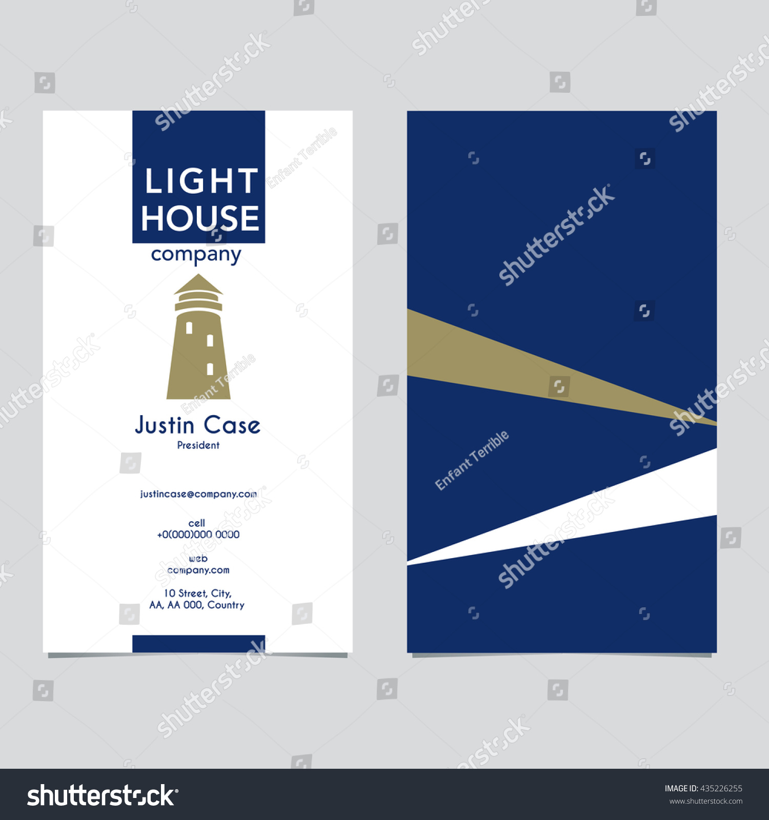 Lighthouse Business Sign Business Card Vector Stock Vector ...