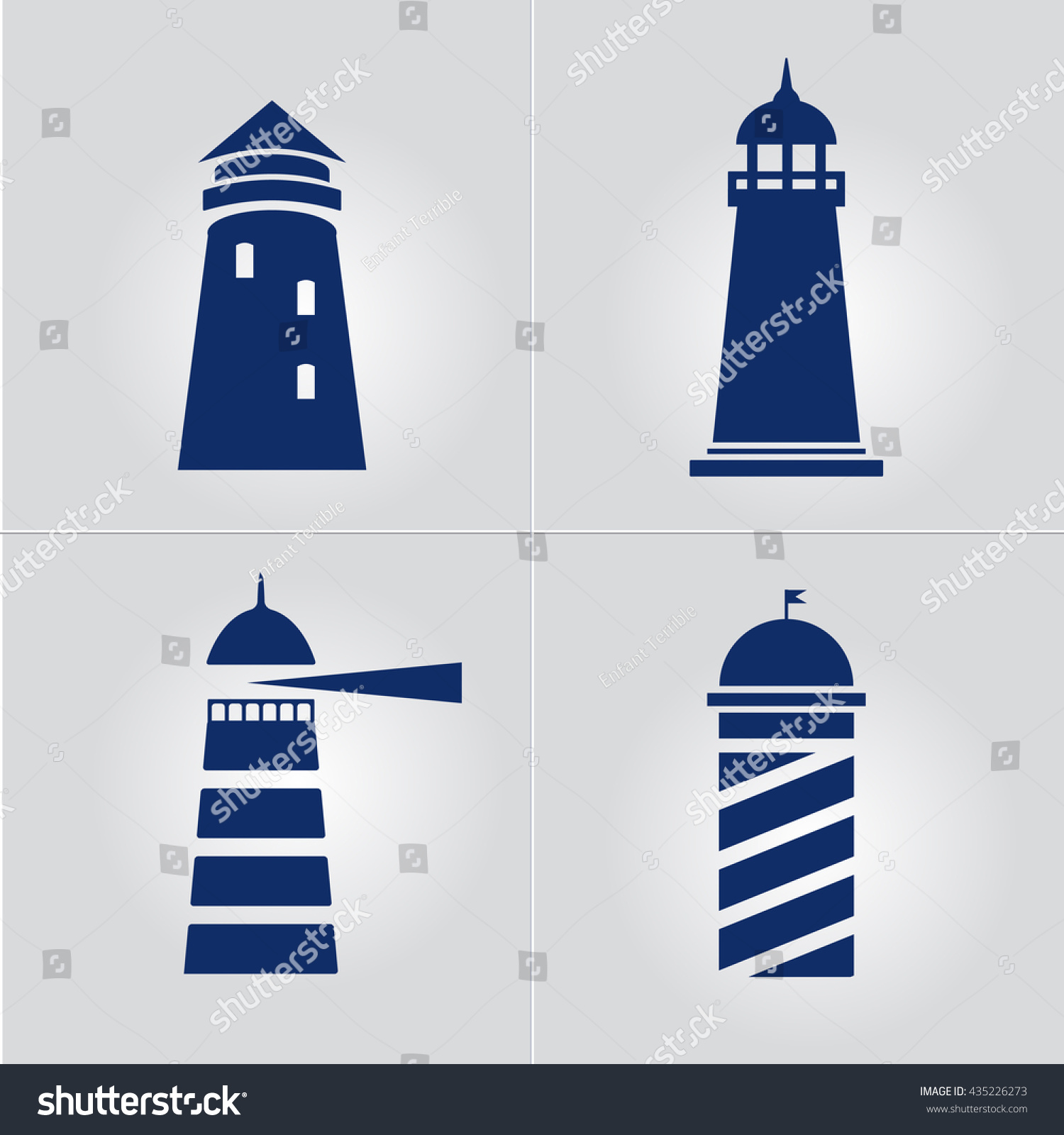 Lighthouse business sign template set lighthouse stock vector lighthouse business sign template set lighthouse icon set nautical banner corporate identity template pronofoot35fo Images